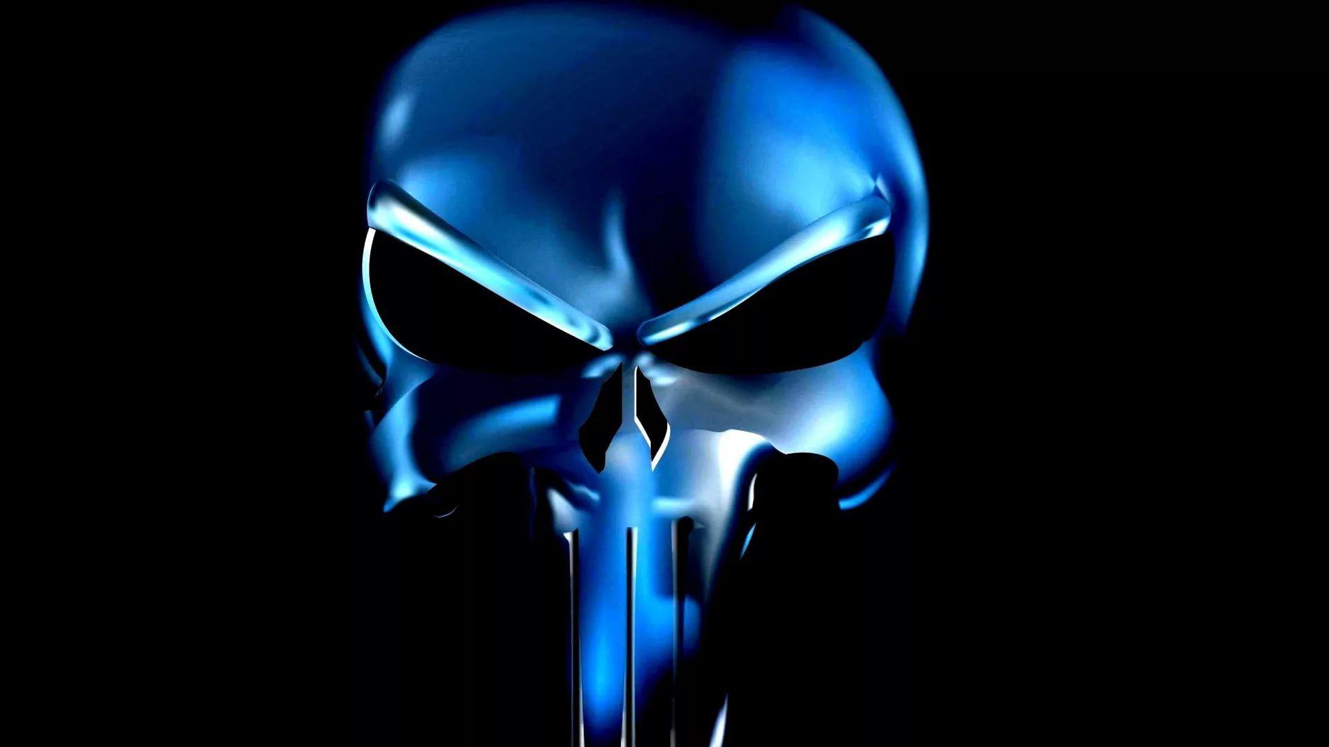 Punisher Skull Background Wallpaper HD