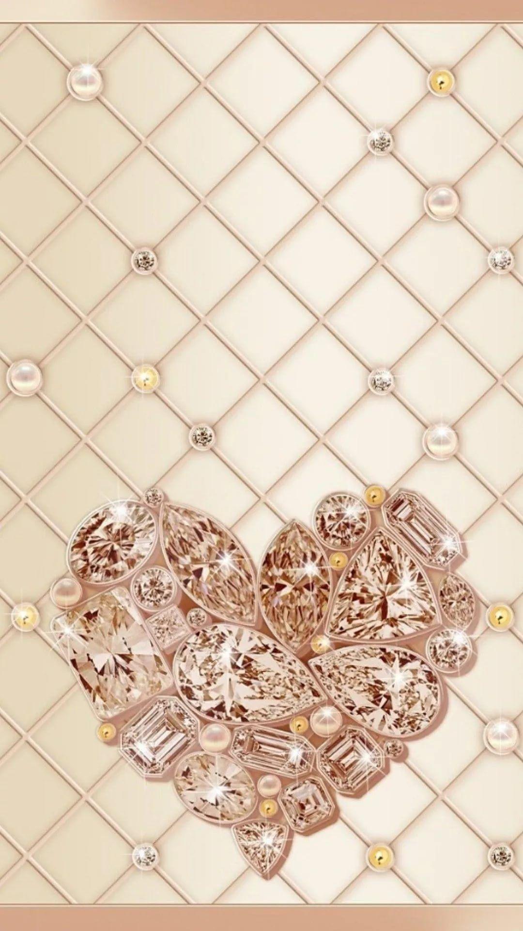 Rose Gold Heart wallpaper