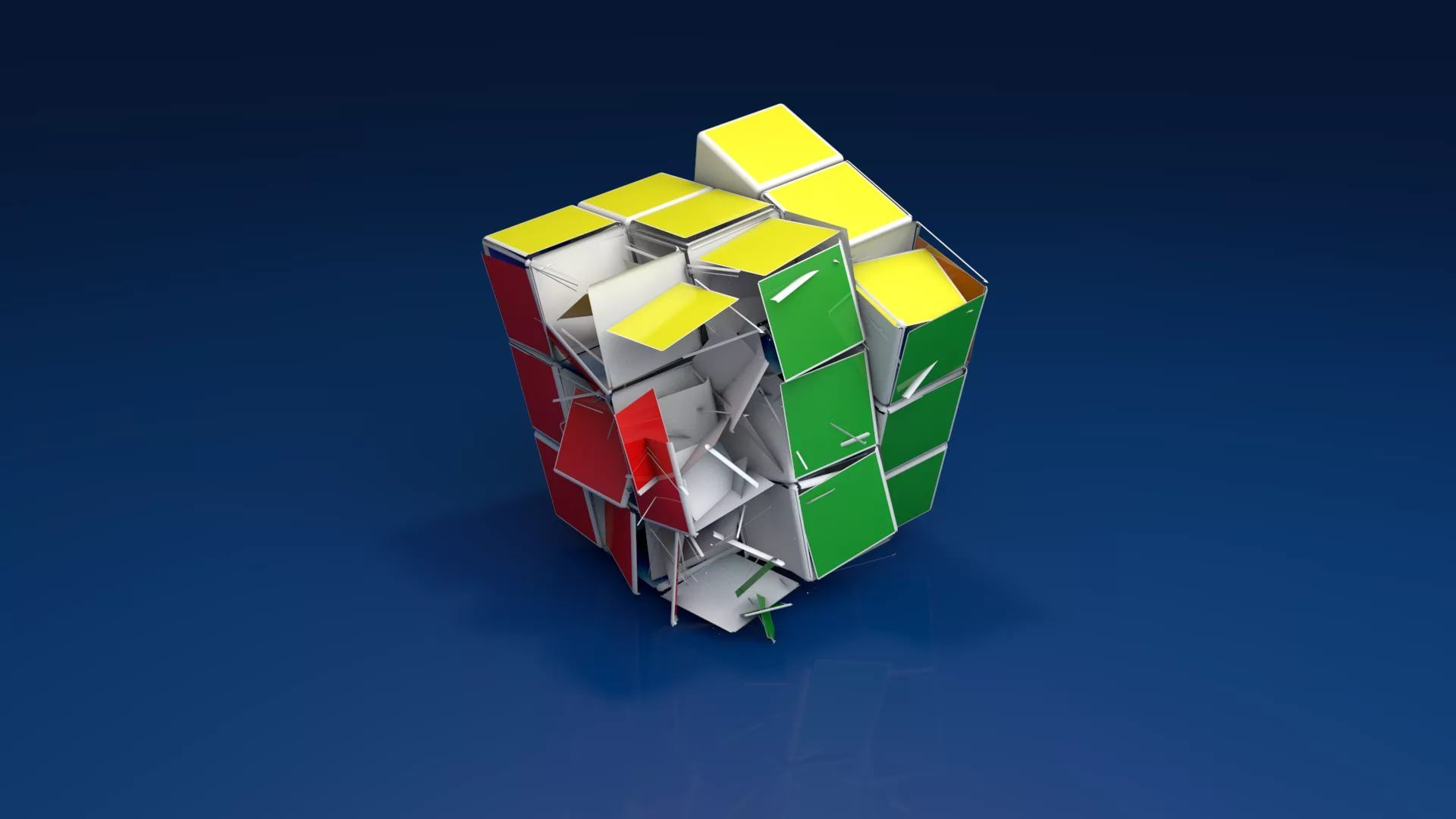 Rubiks Cube computer wallpaper