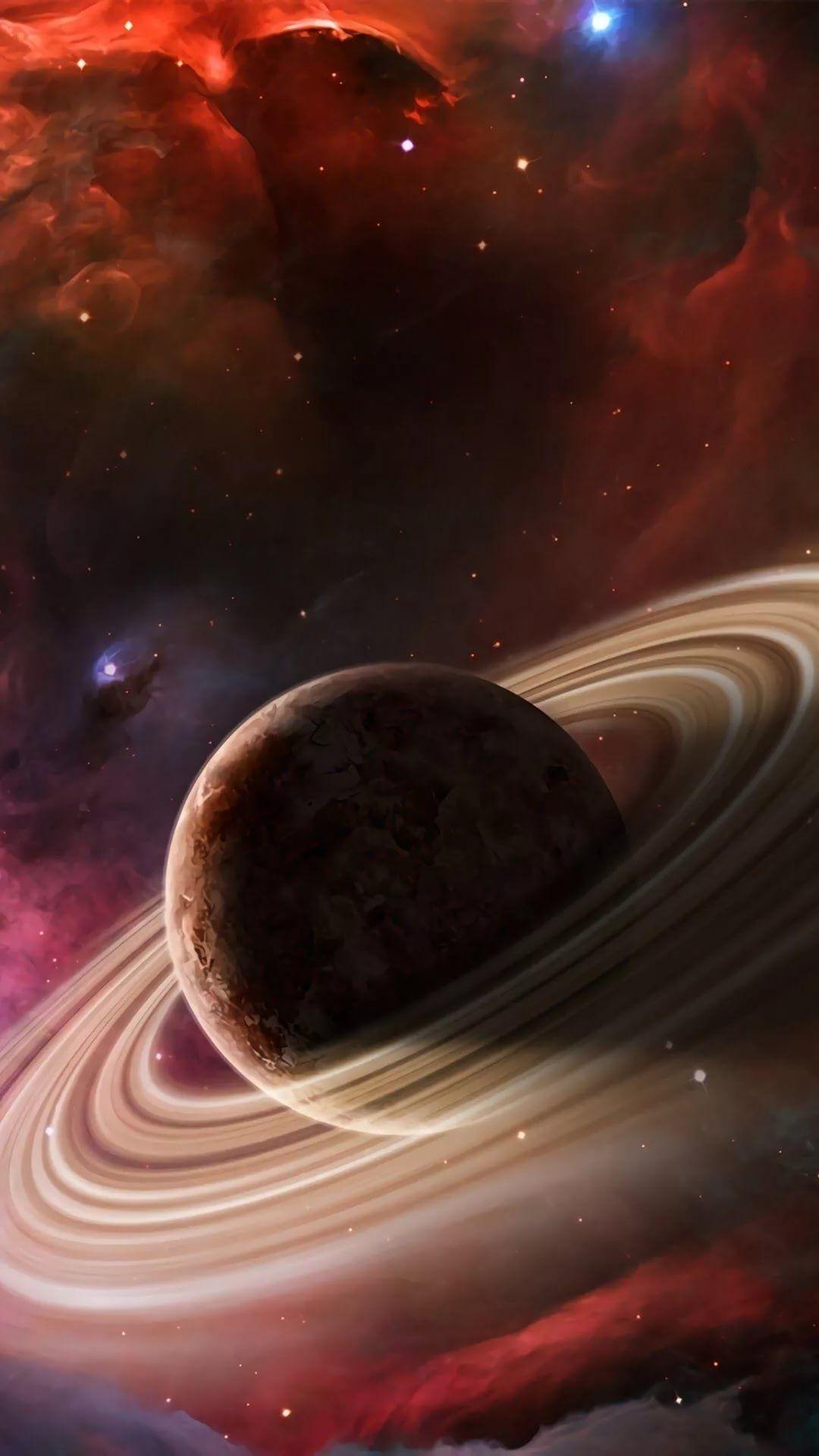 Saturn iPhone hd wallpaper