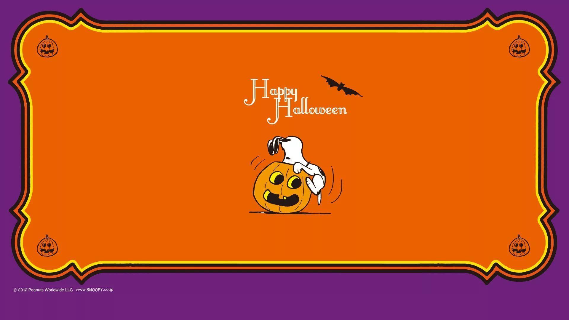 Snoopy Halloween hd desktop wallpaper