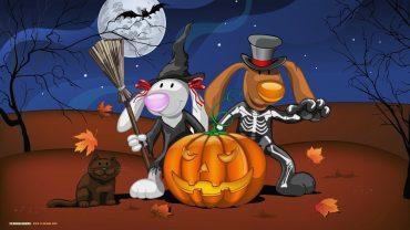 Snoopy Halloween desktop wallpaper