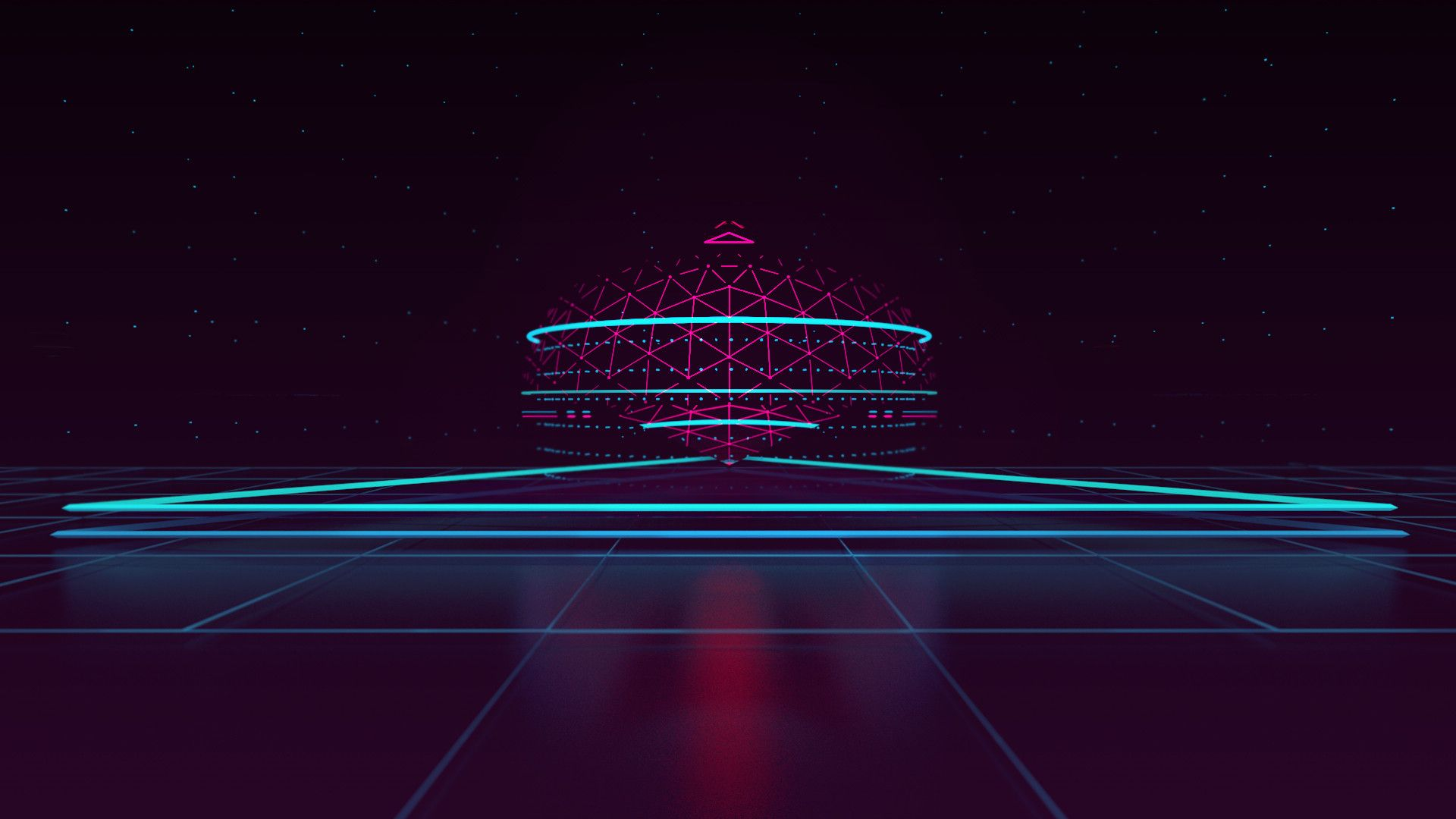 Synthwave background wallpaper