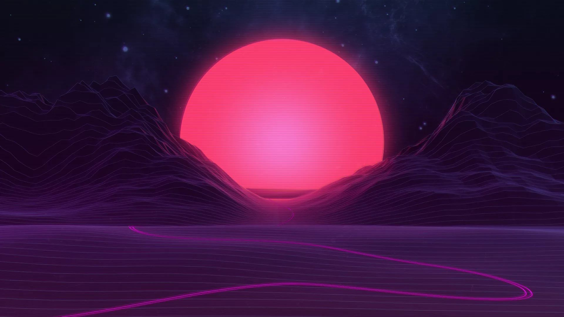 Synthwave Cool Wallpaper