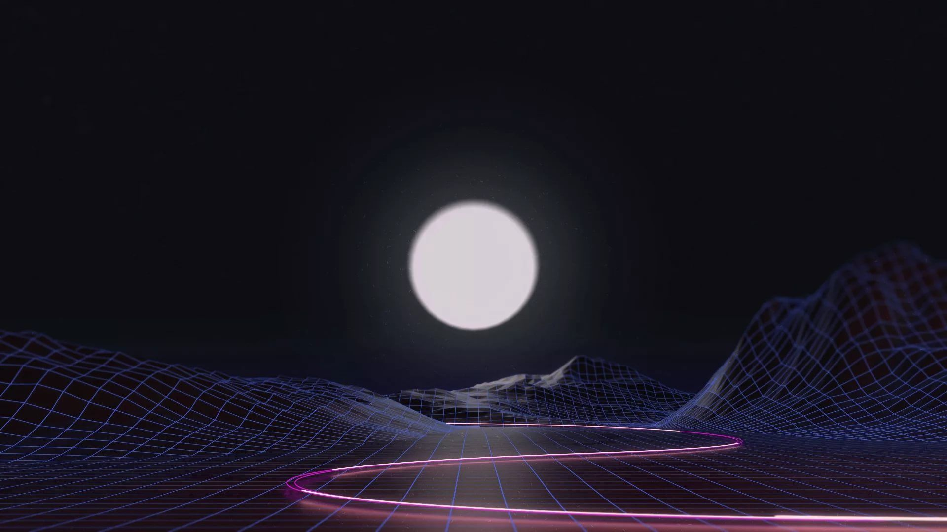 Synthwave computer Wallpaper