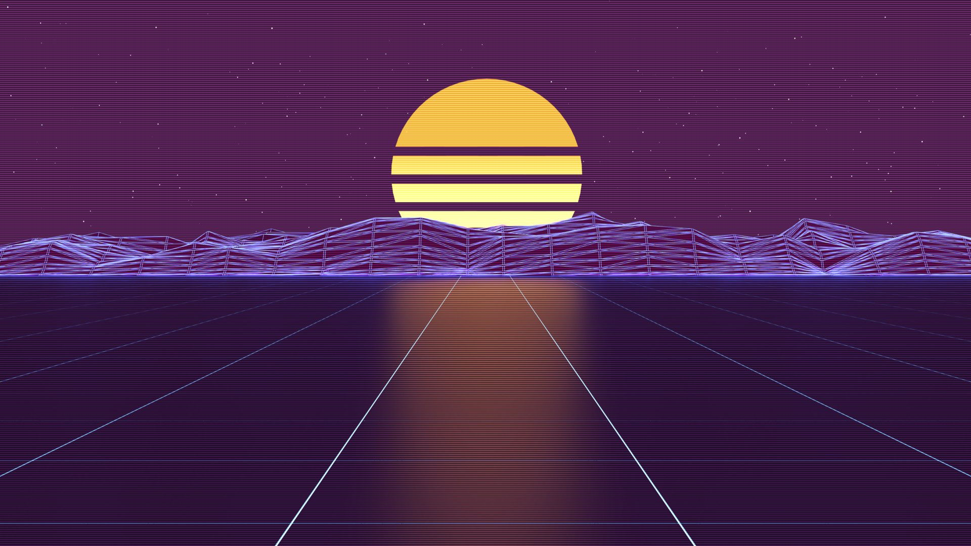 Synthwave Wallpaper and Background