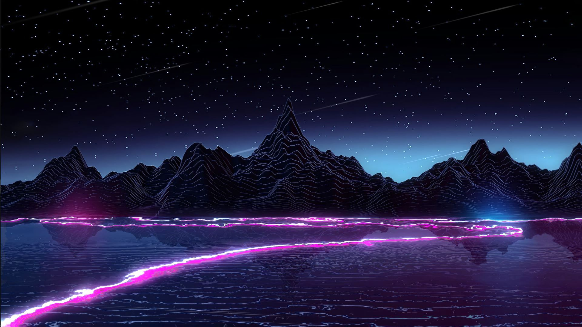 Synthwave beautiful wallpaper