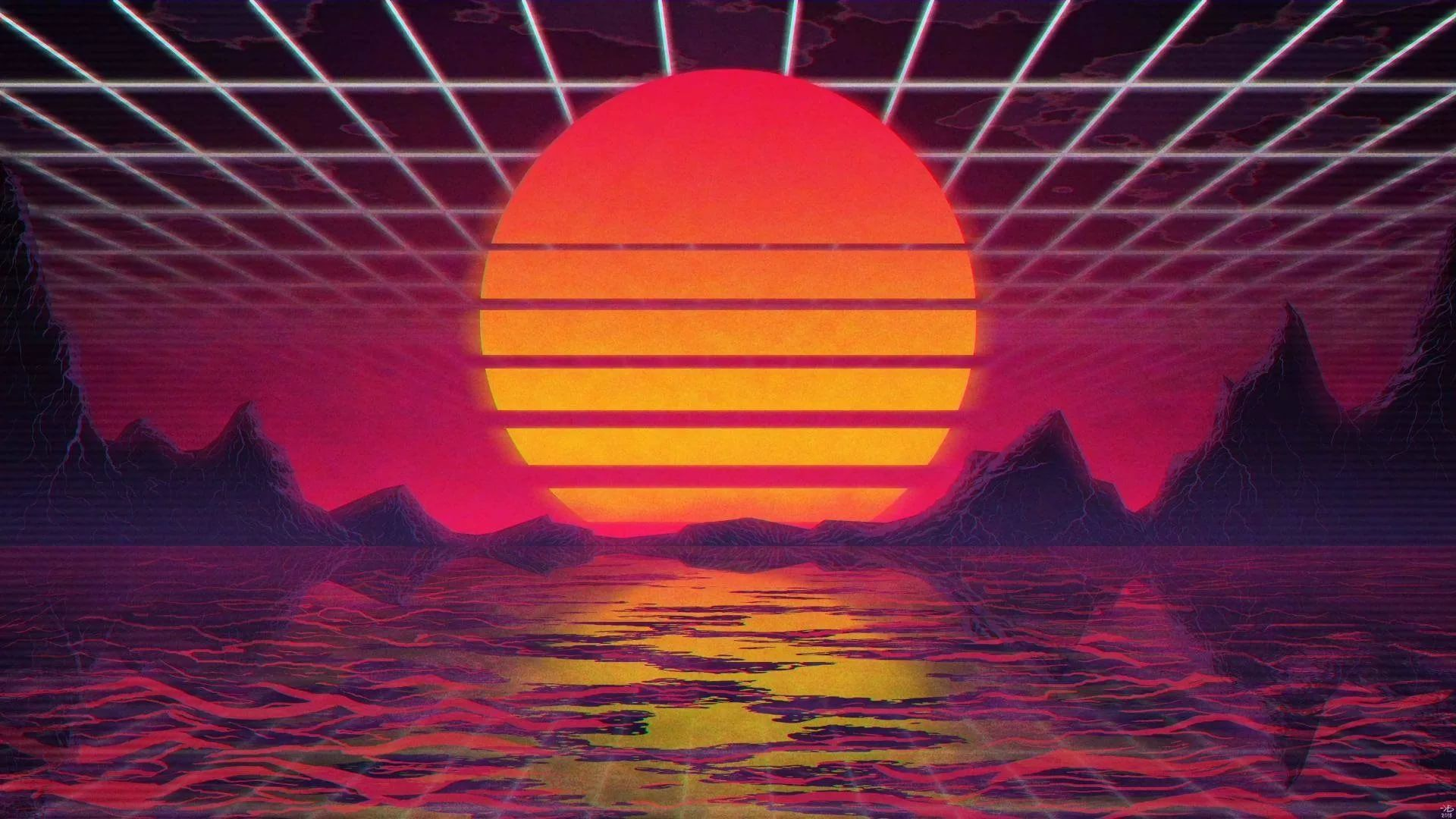 Synthwave wallpaper photo