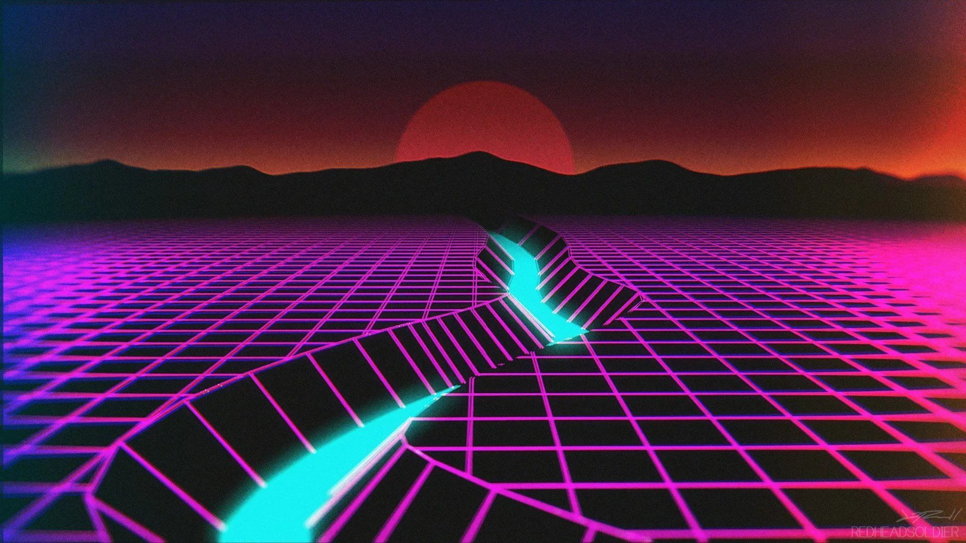 Synthwave 1080p Wallpaper