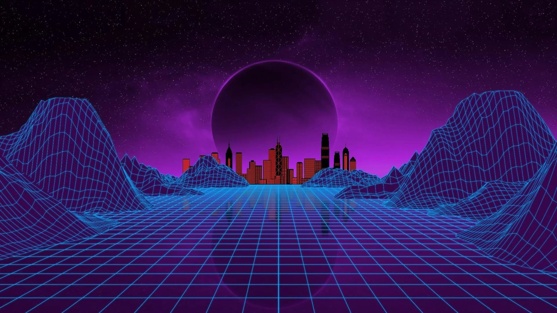 Synthwave hd wallpaper 1080
