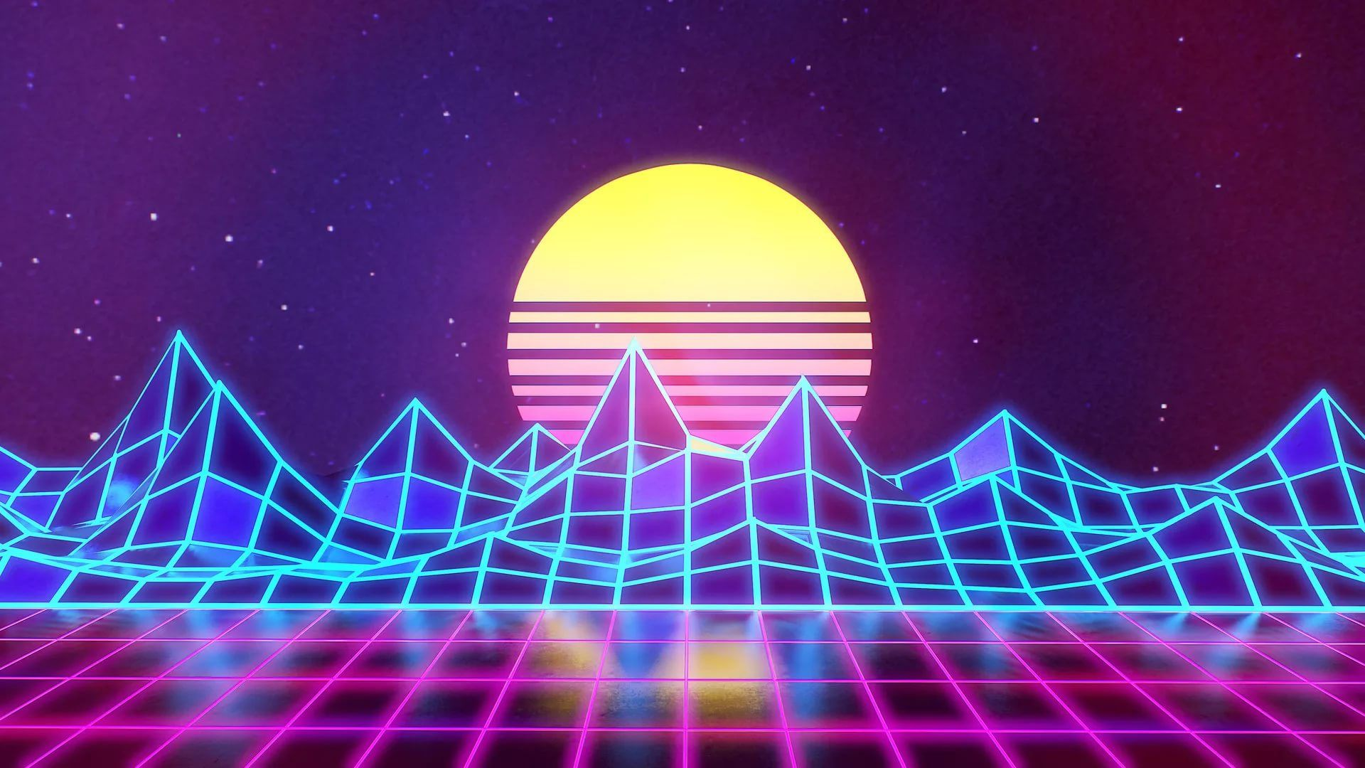 Synthwave desktop wallpaper download