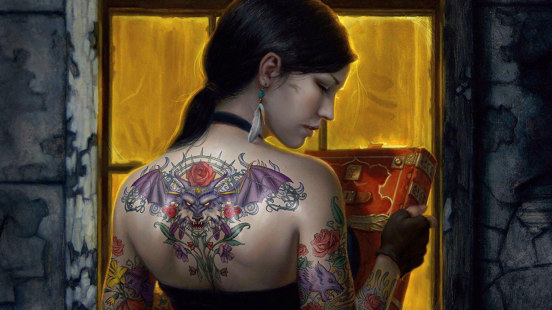 Tattoo Girl hd wallpaper