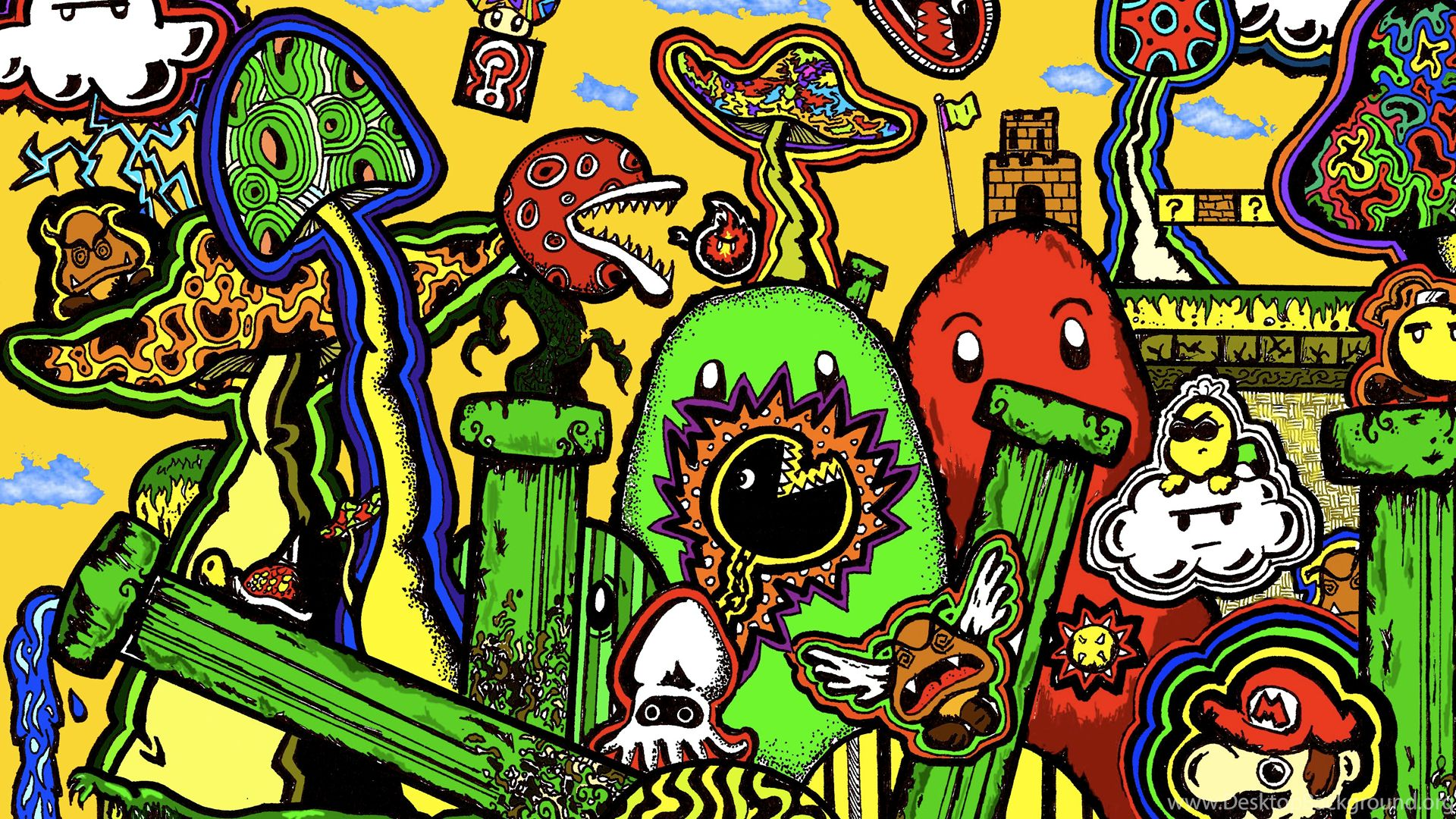 Trippy Rasta Background Wallpaper HD