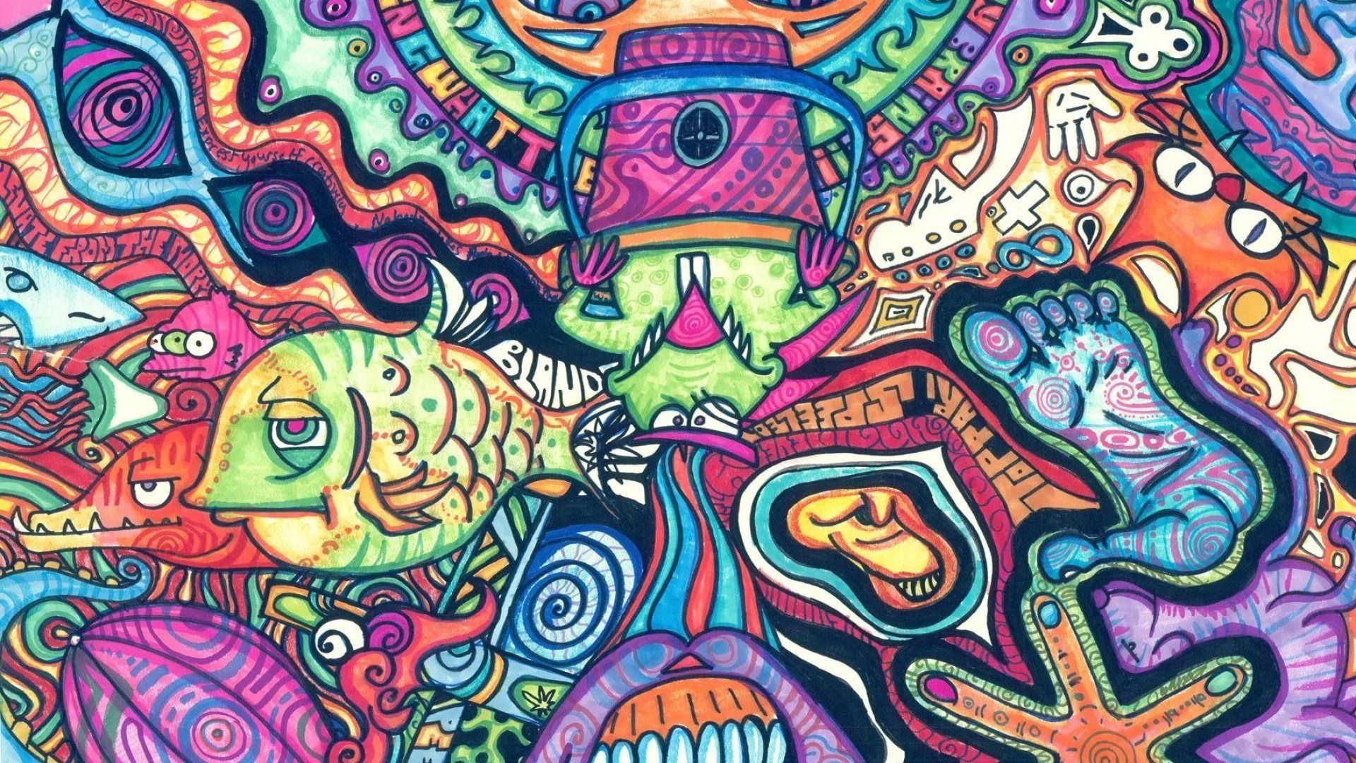 Trippy Rasta Cool Wallpaper