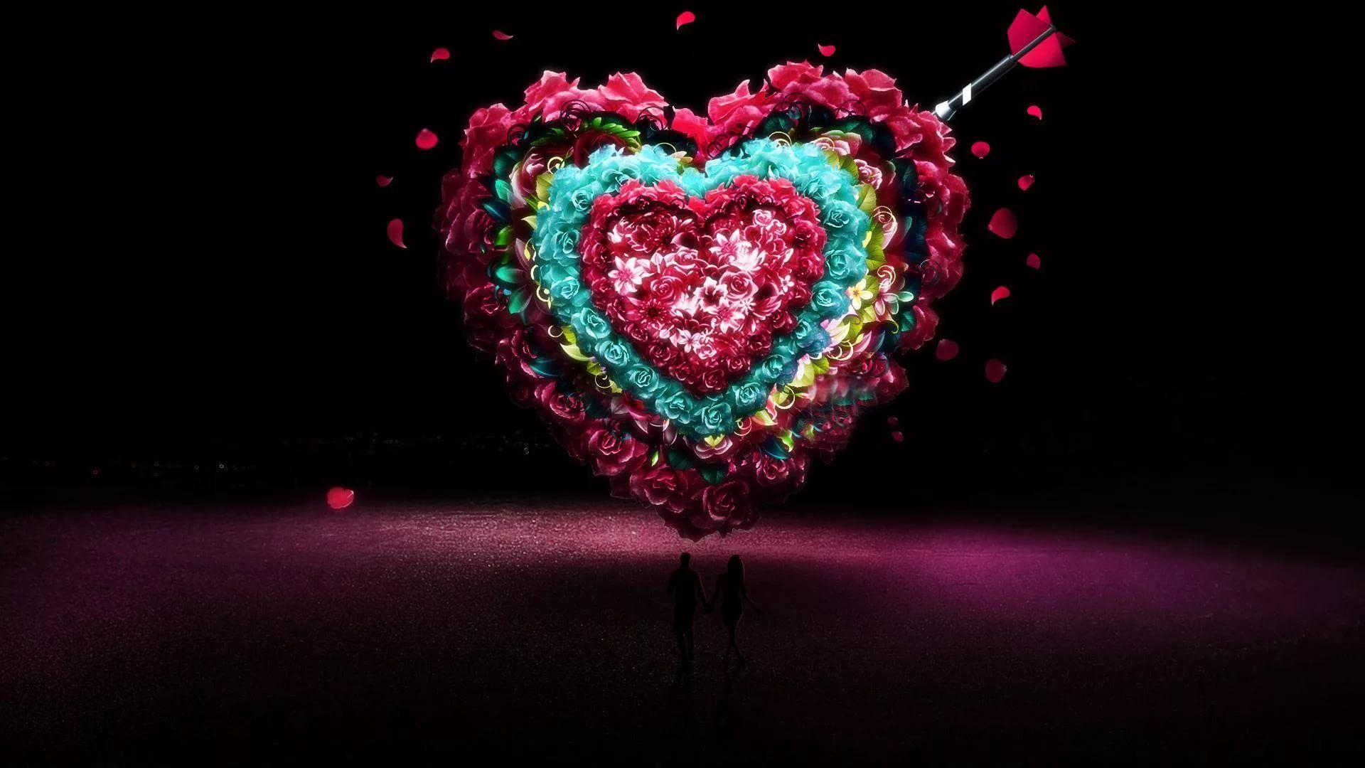 Valentine Screensaver full hd wallpaper