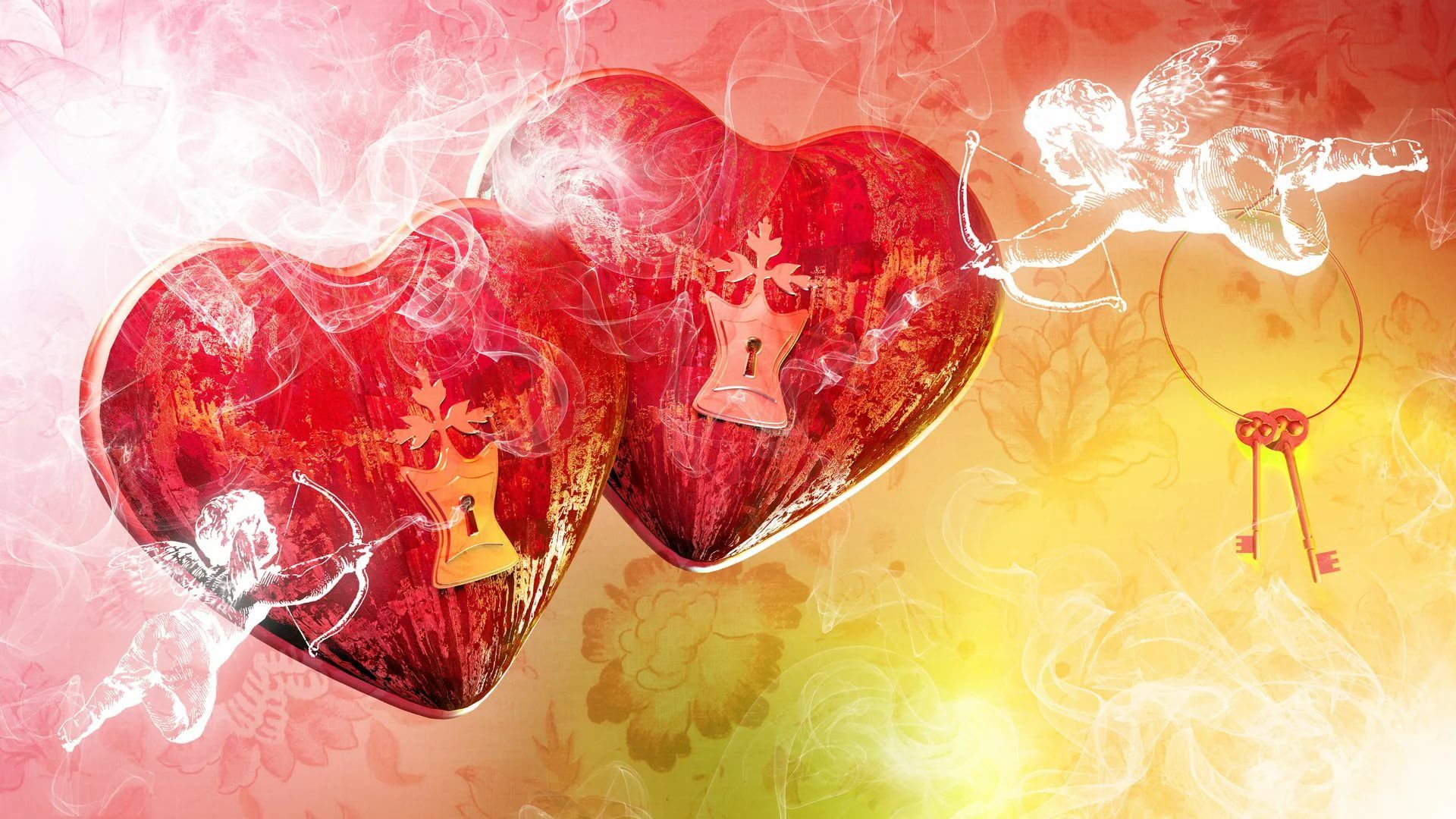 Valentine Screensaver Background Wallpaper