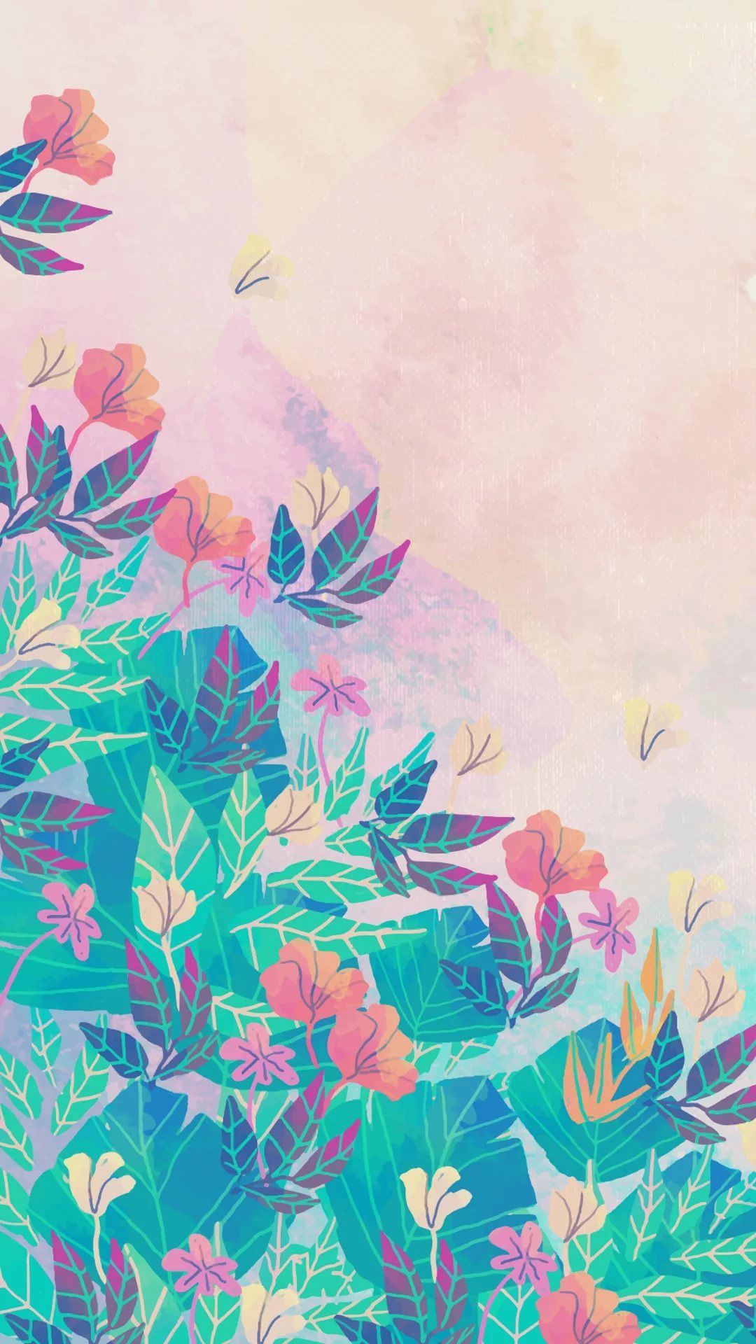 25 Watercolor iPhone Wallpapers ...