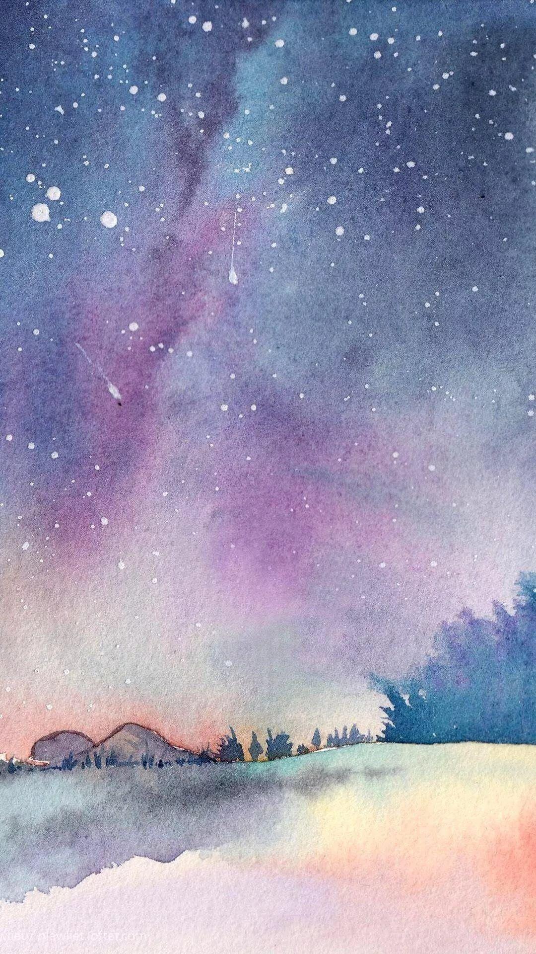 Watercolor iPhone 7 wallpaper