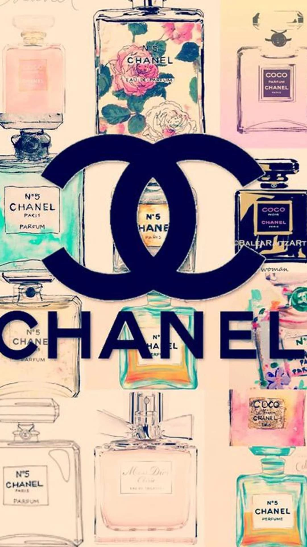 Chanel Background iPhone wallpaper
