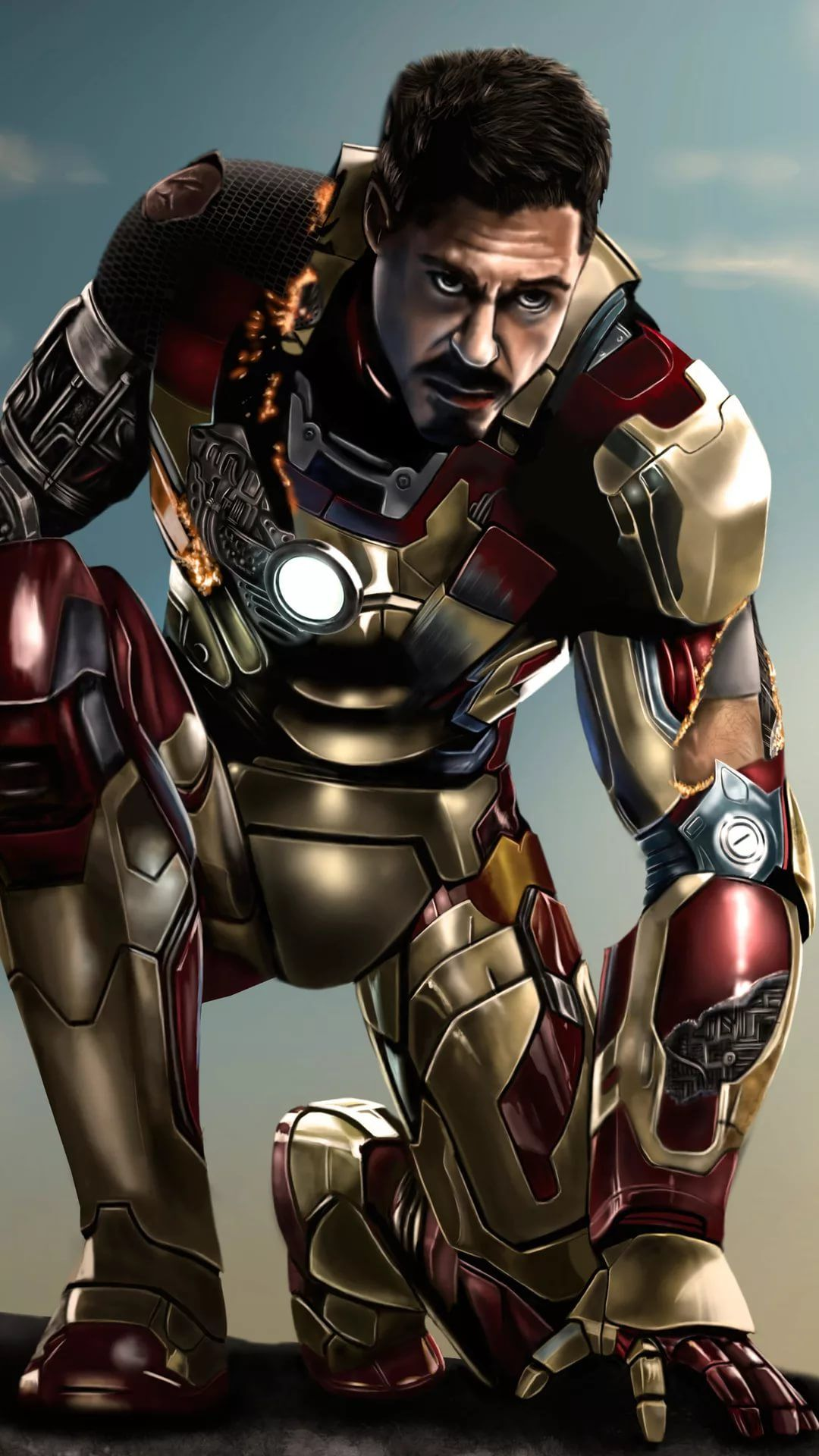 Iron Man For Mobile phone background