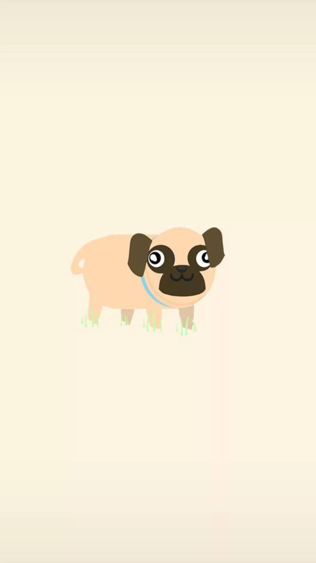 Pug iPhone wallpaper