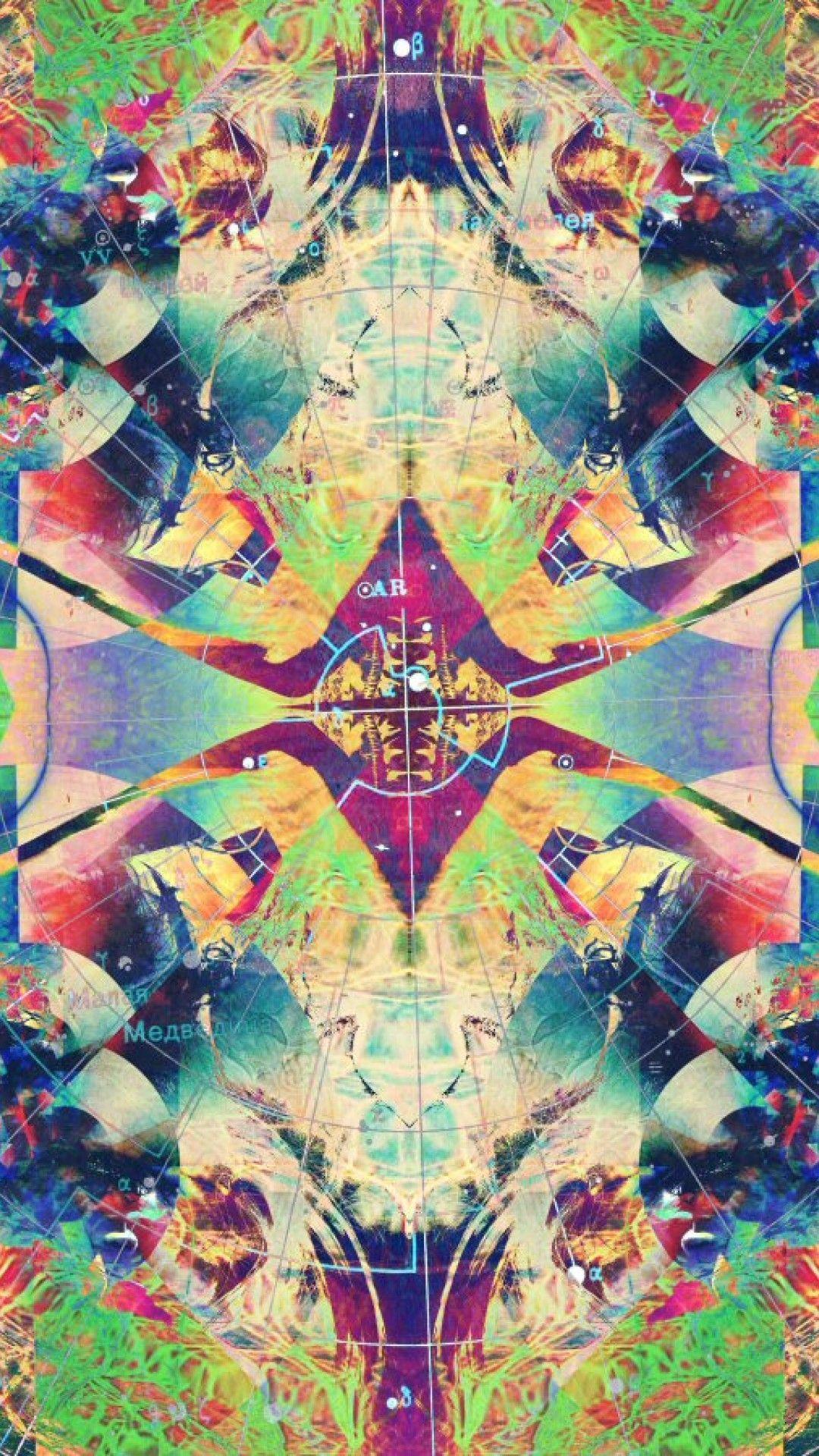 Trippy phone background