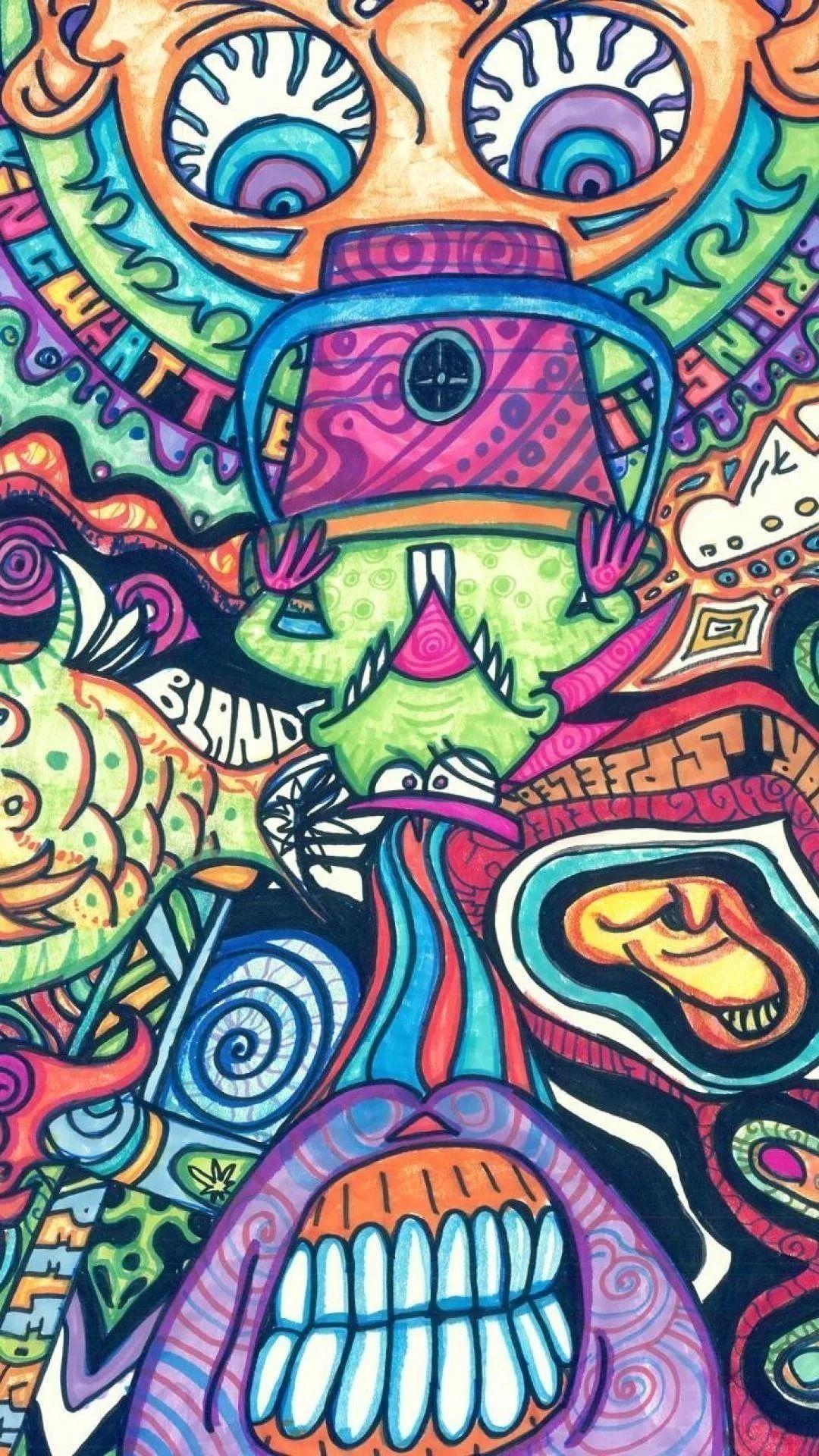 Trippy phone wallpaper