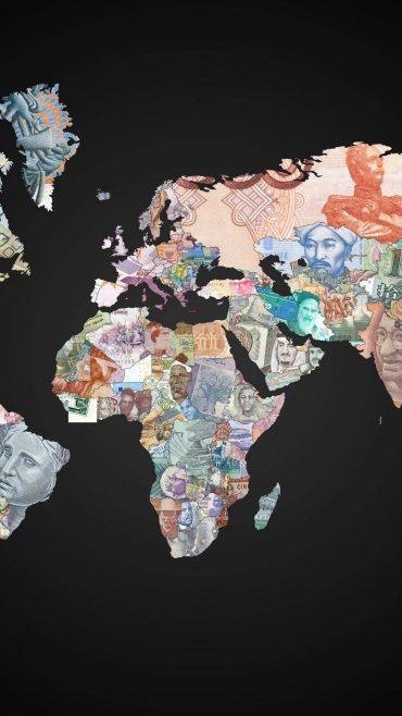 World Map iPhone 5 wallpaper