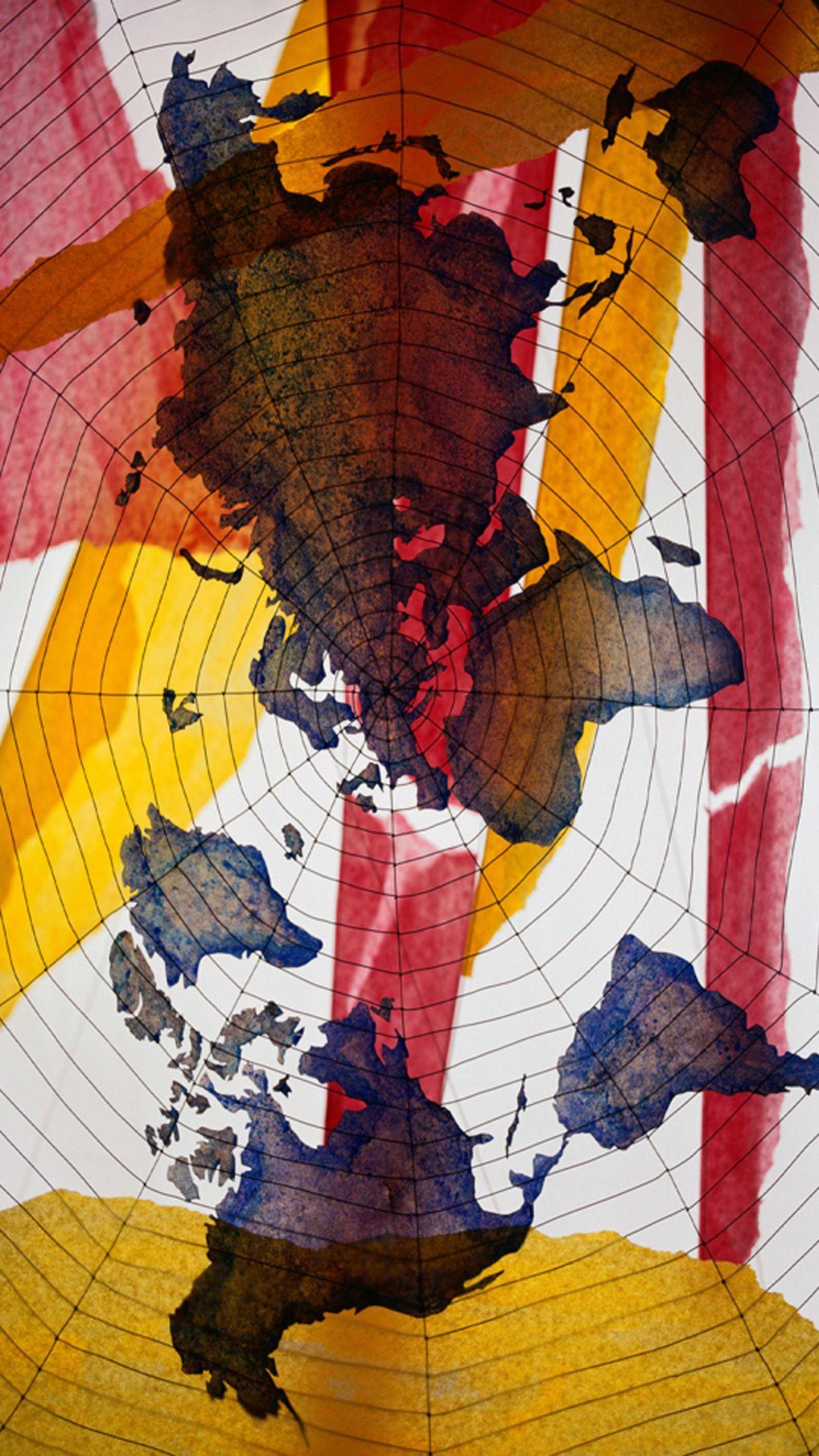 World Map iPhone wallpaper