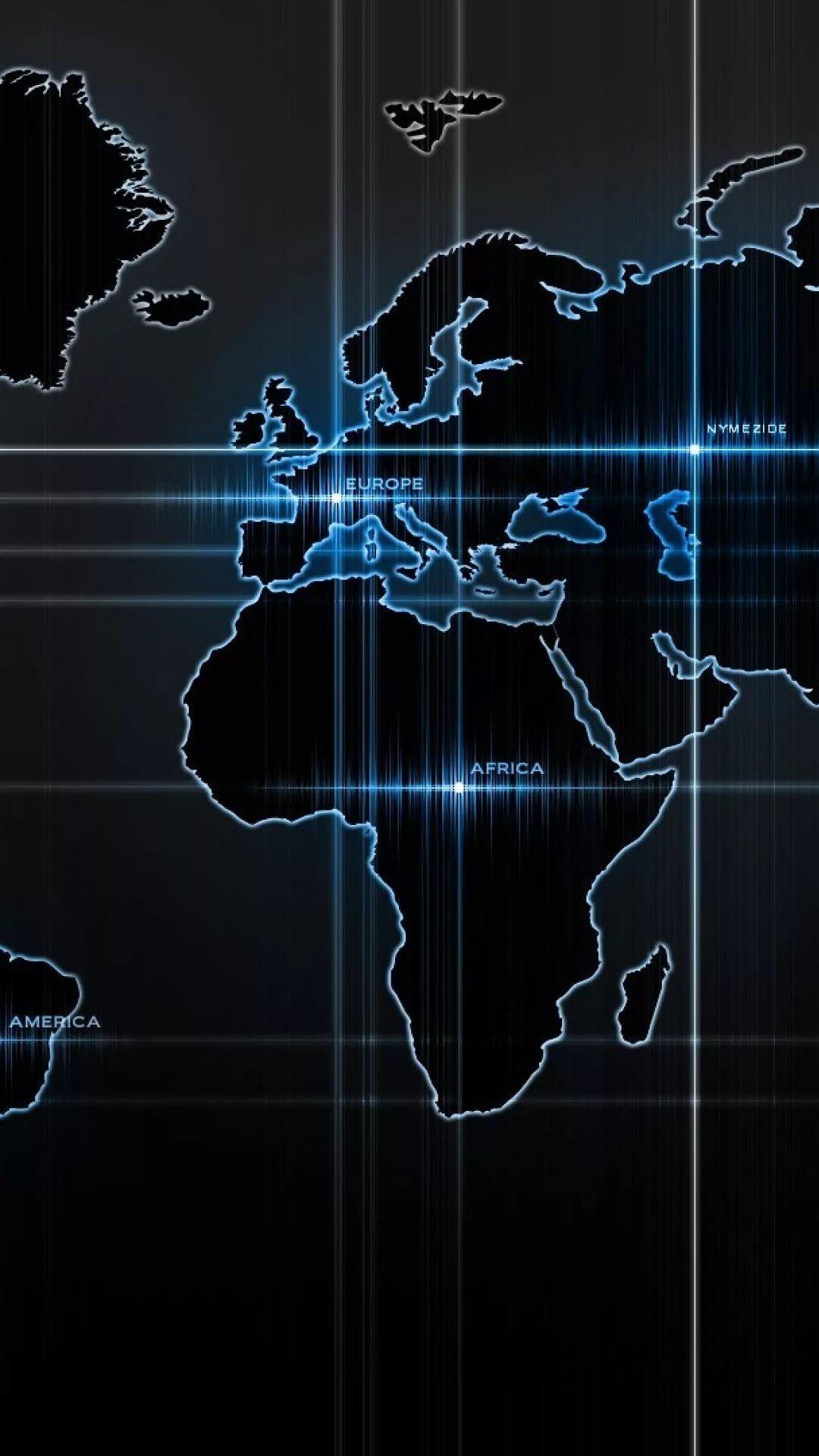 World Map iPhone hd wallpaper