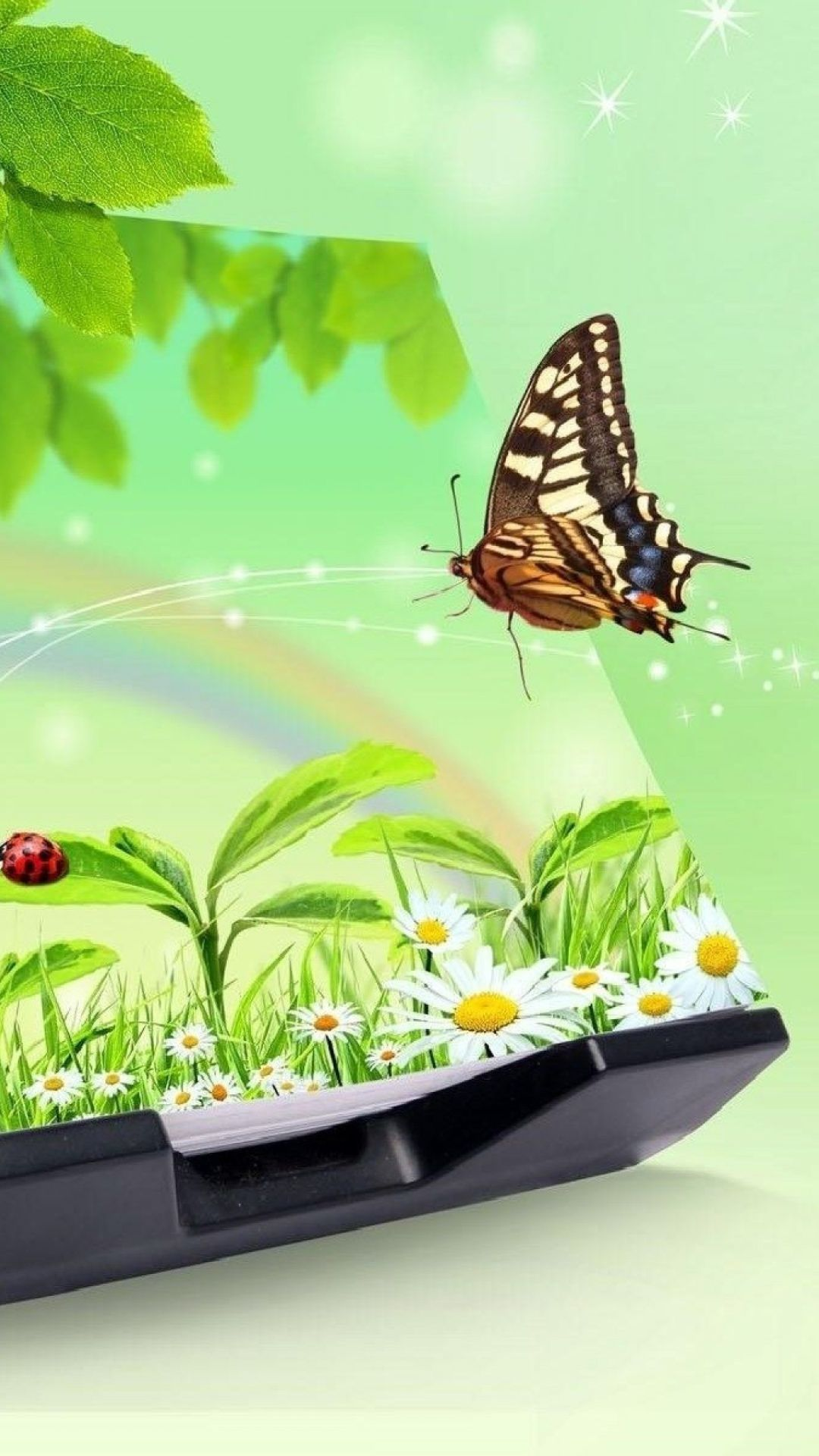 21 3d Butterfly Iphone Wallpapers Wallpaperboat