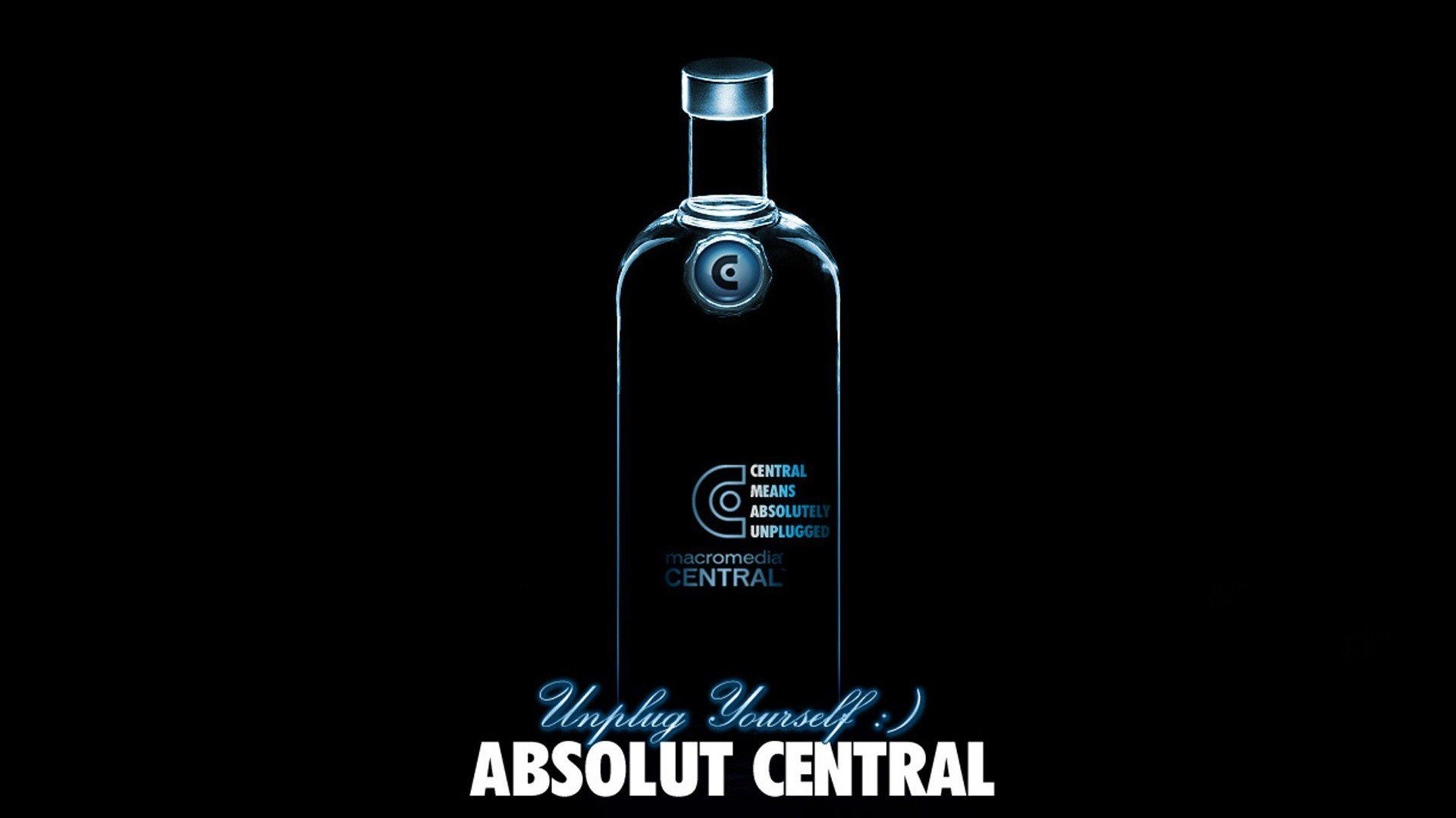 Absolut Vodka Black Dark Background