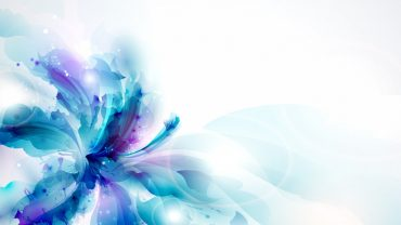 Abstract Floral Background, Blue Background Flowers