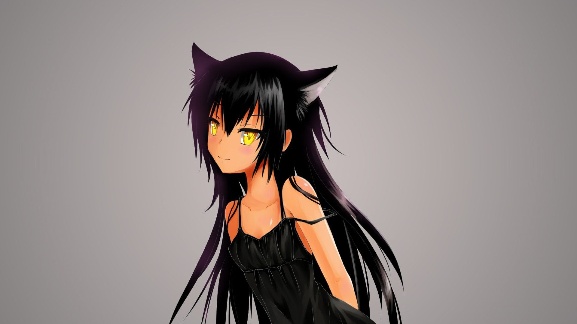 Anime Brunette Anime Cat Love And Other Troubles Wallpapers Working