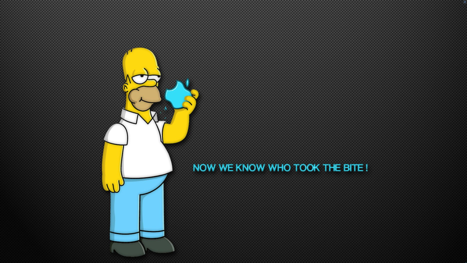 Apple, Cartoon, Funny, Homer, Humor, Quotes, Simpsons, Text