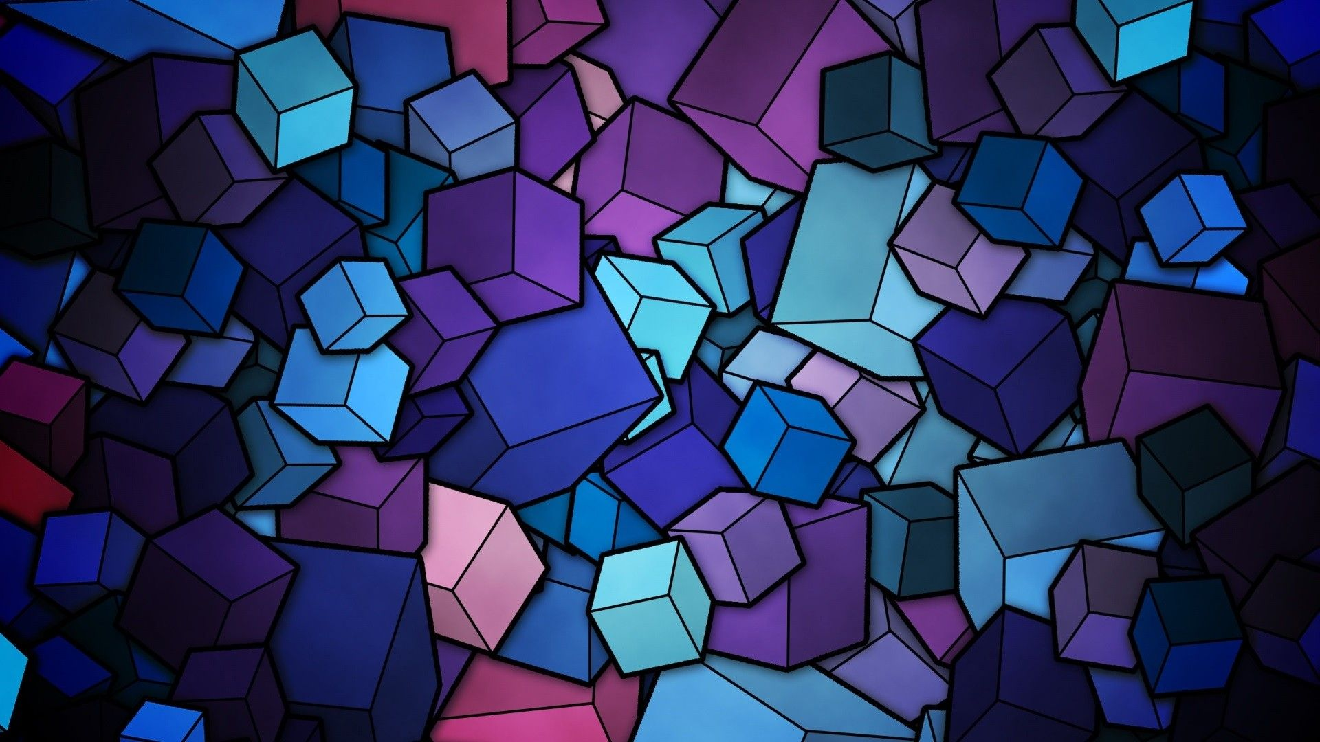 Background 2048 Cubes, Background, Colorful Cubes