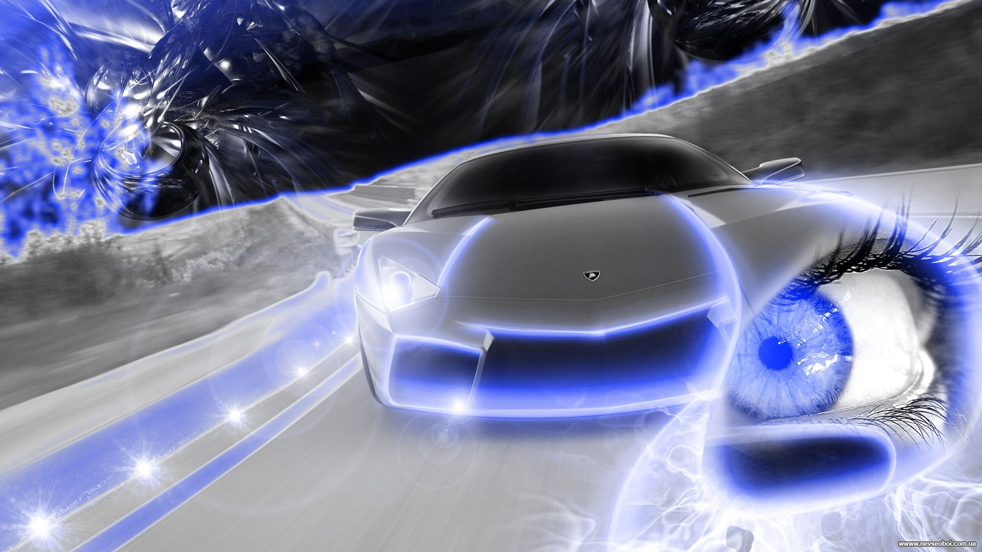 Background 3 D Car, Pictures Car Neon