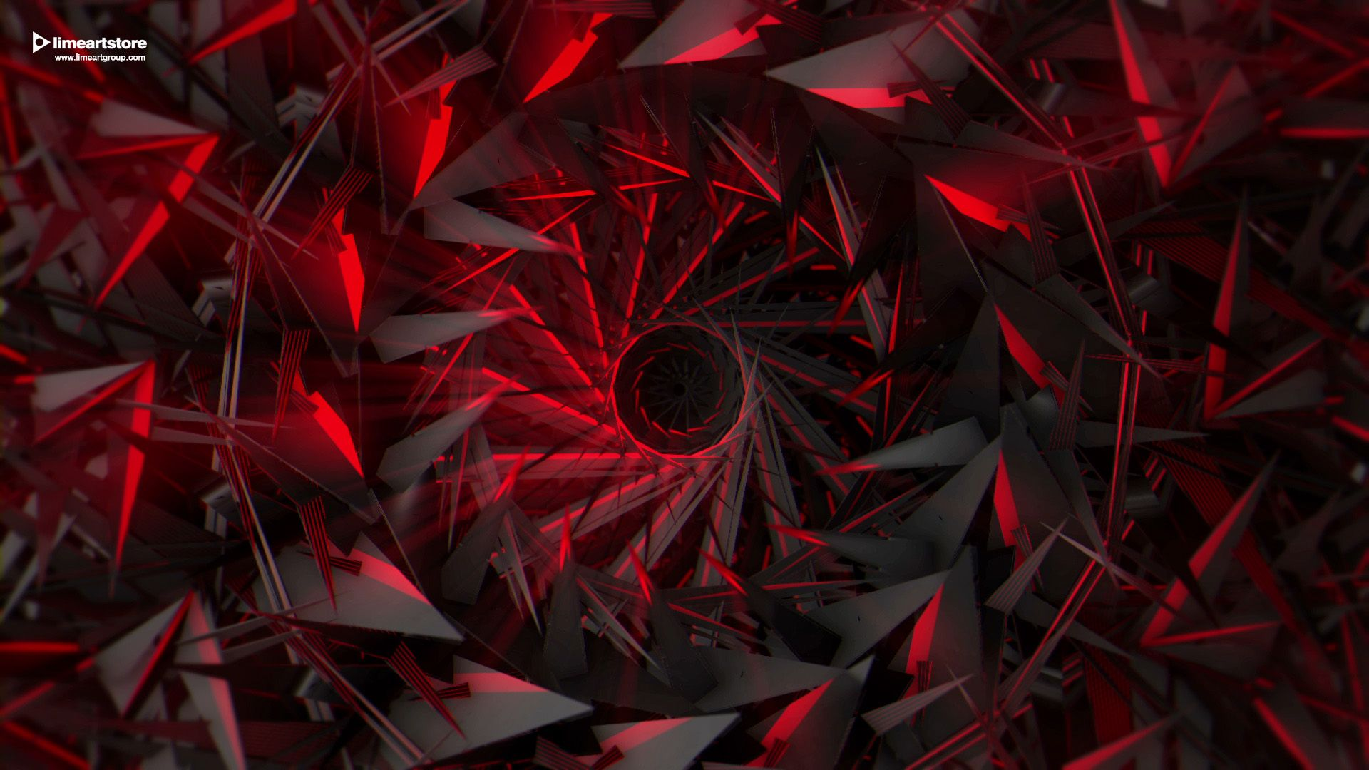 Background Black And Red Abstract, Fractals