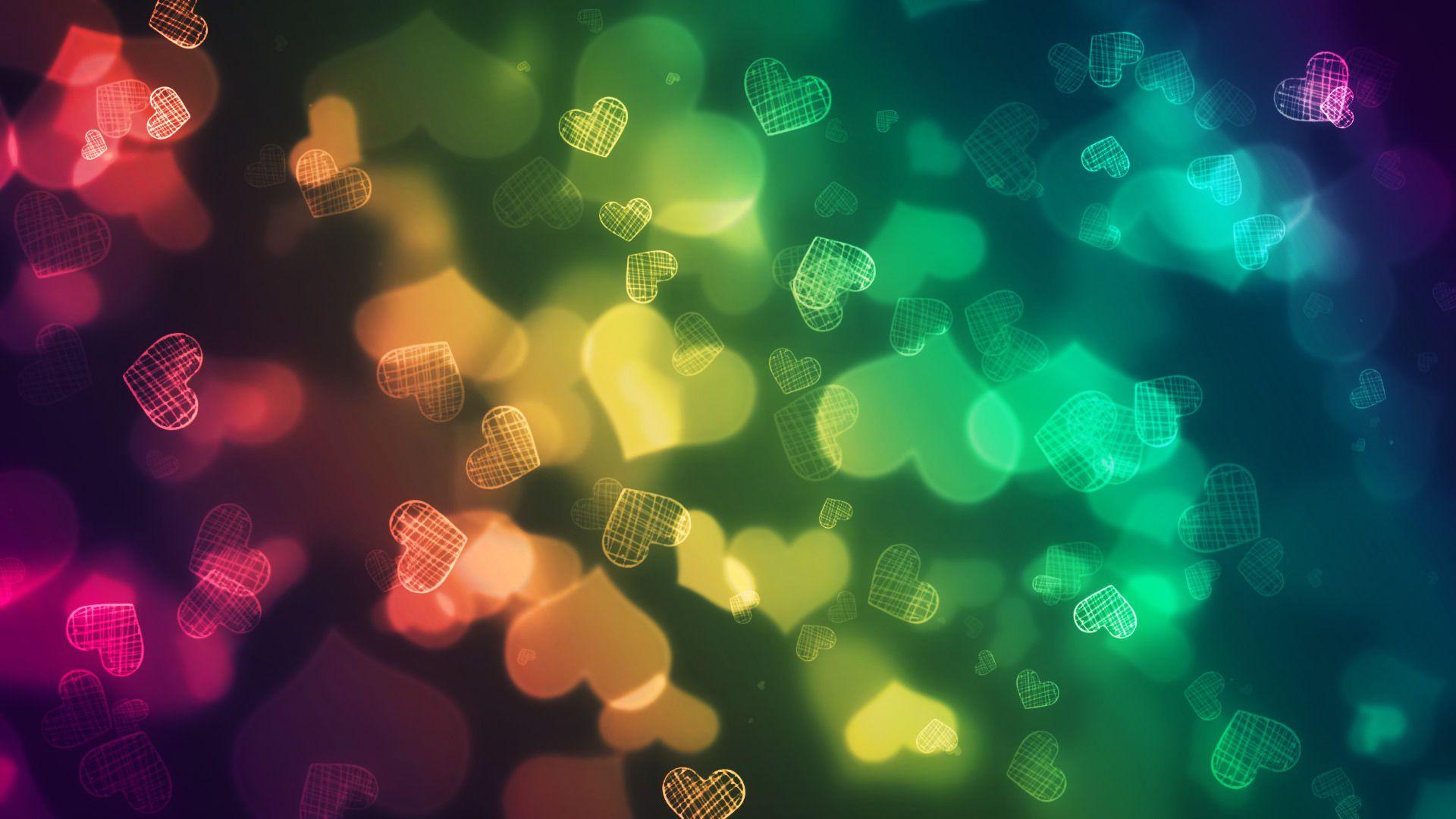 Background Love, Hearts On Luminous