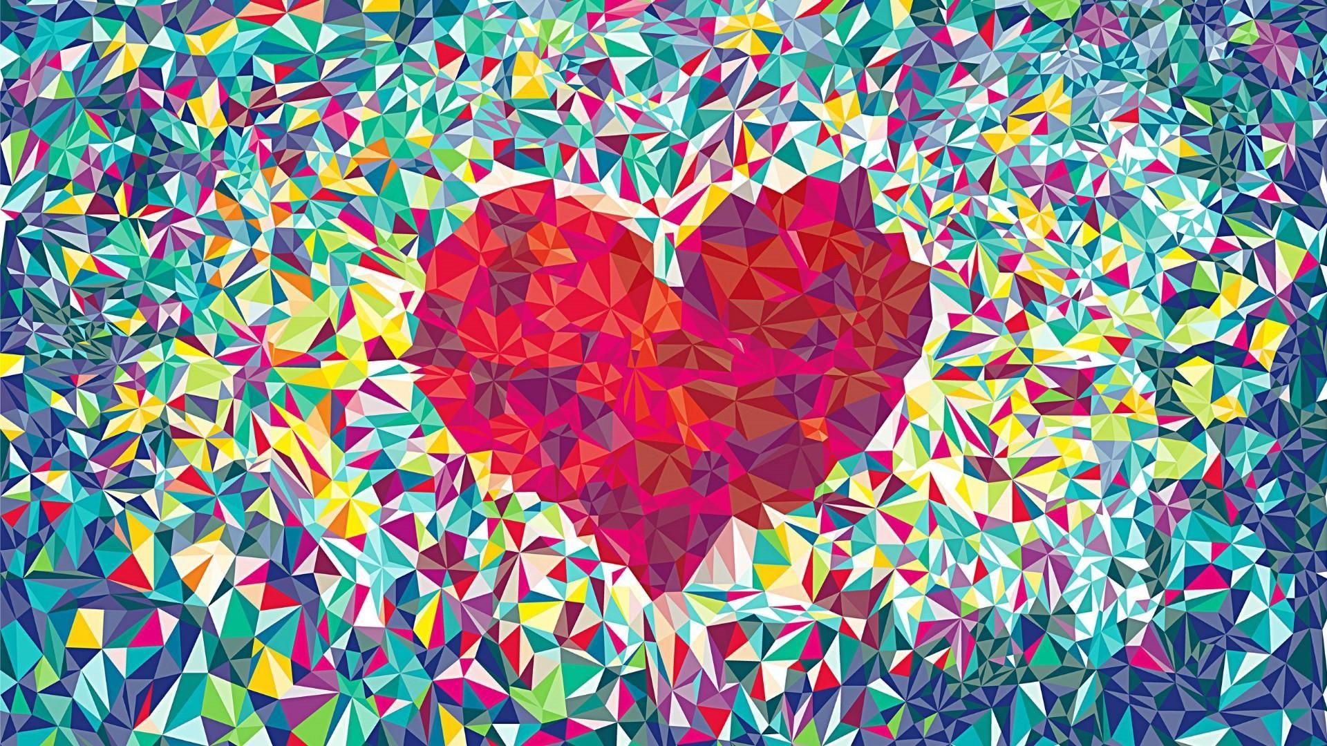 Background Love, Pop Art Hearts