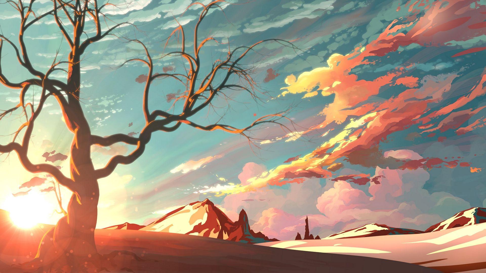 Background Tree Art, Beautiful Art