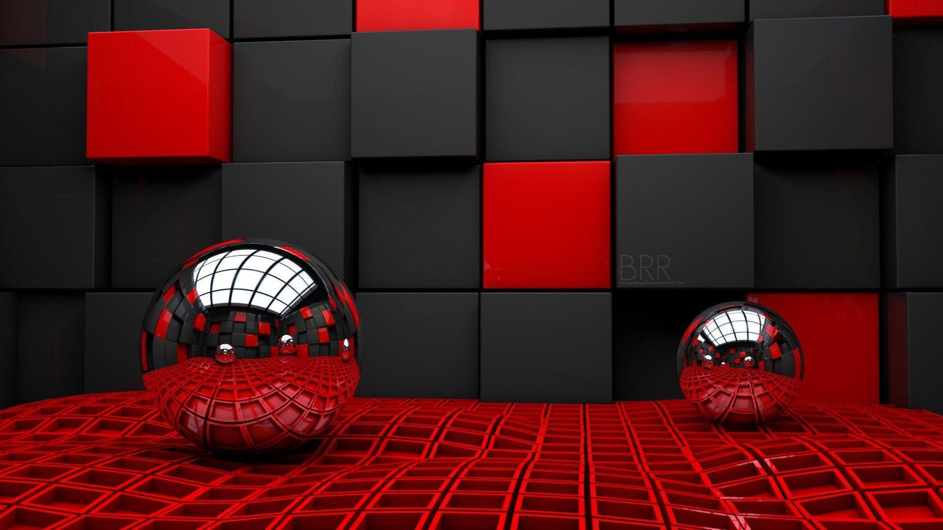 Beautiful 3d Wallpaper, 3 D Wallpaper With A Red Balloon