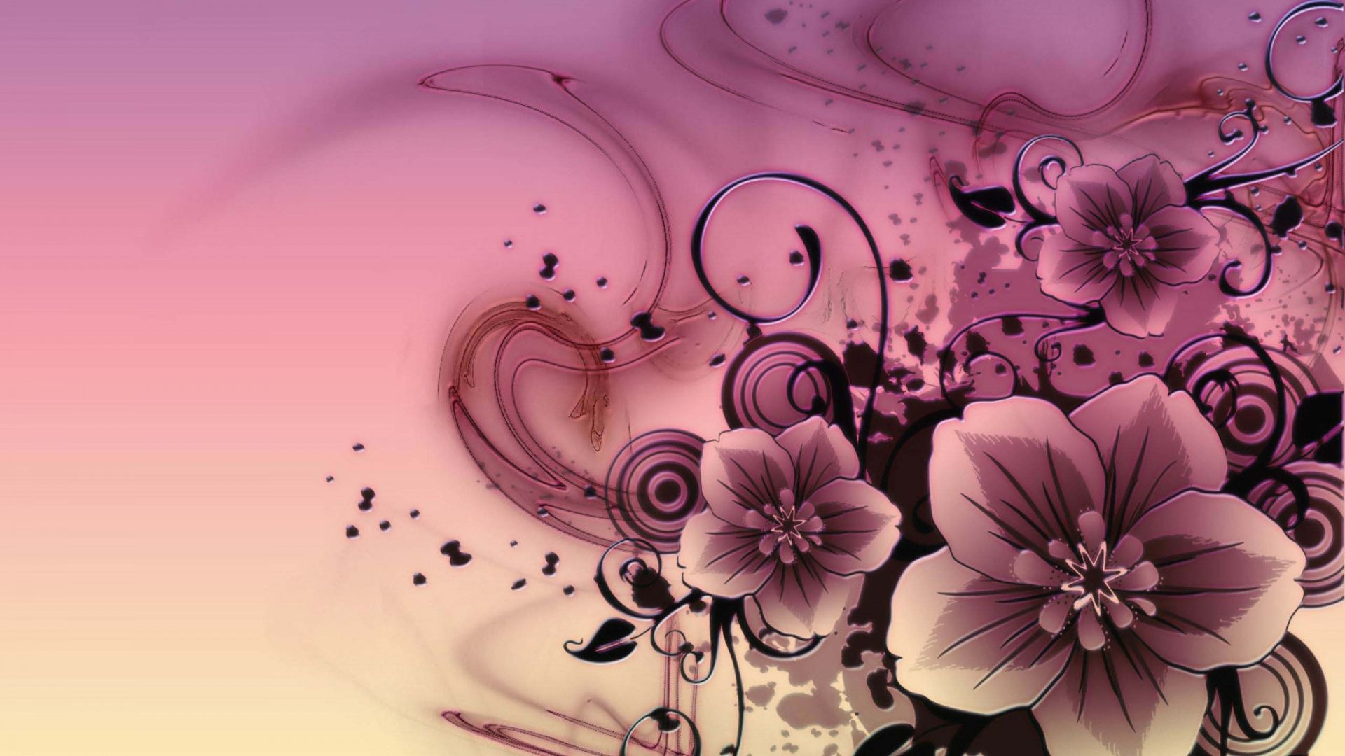 Beautiful Pictures Of Abstract Flowers Background