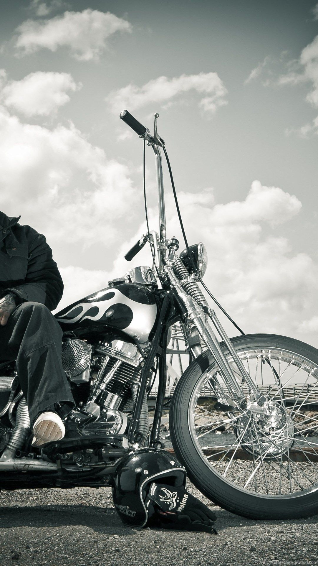 Biker Harley Davidson Chopper Bike Wallpapers Desktop Background