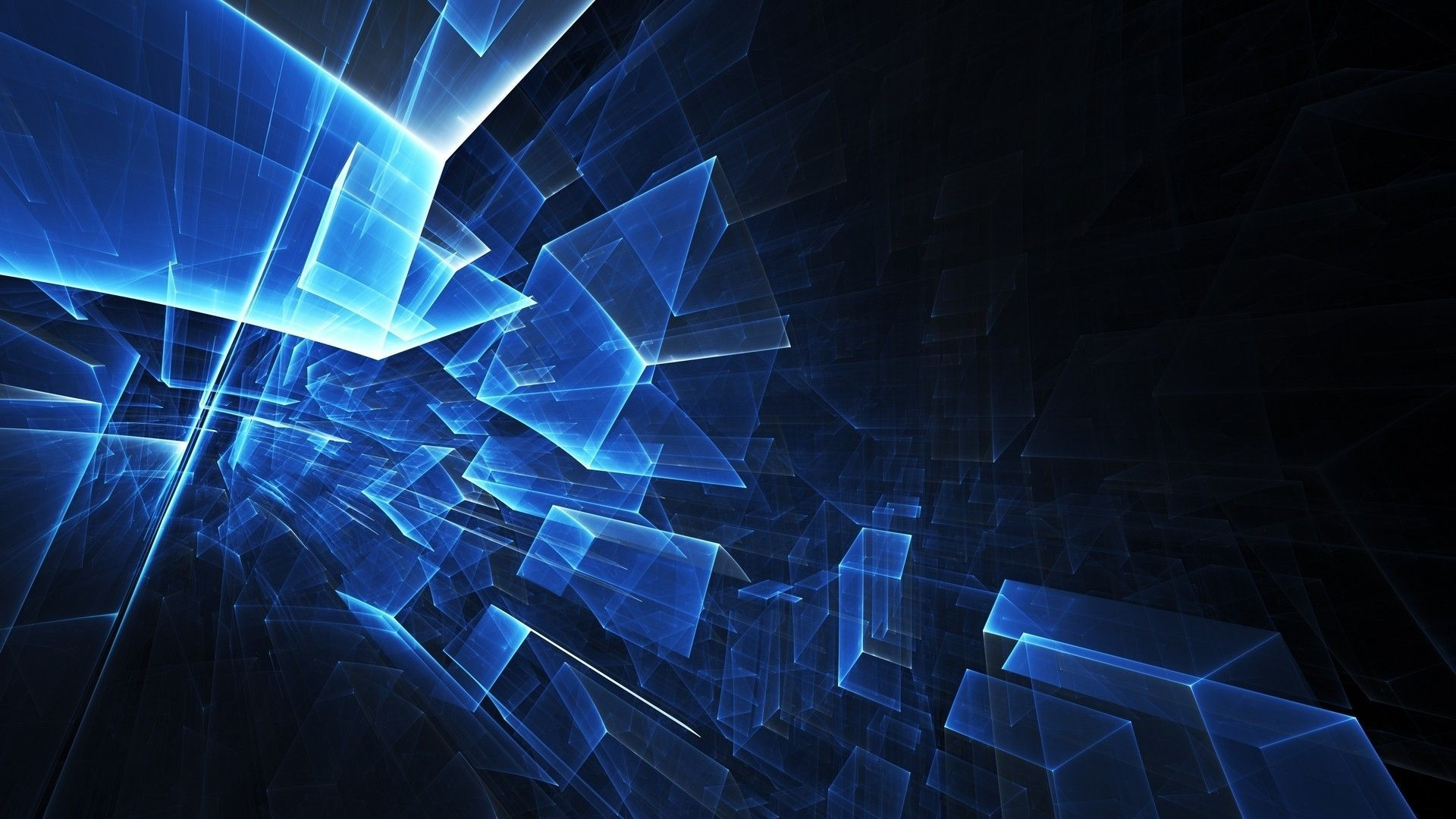 Blue Abstract, Background 3d
