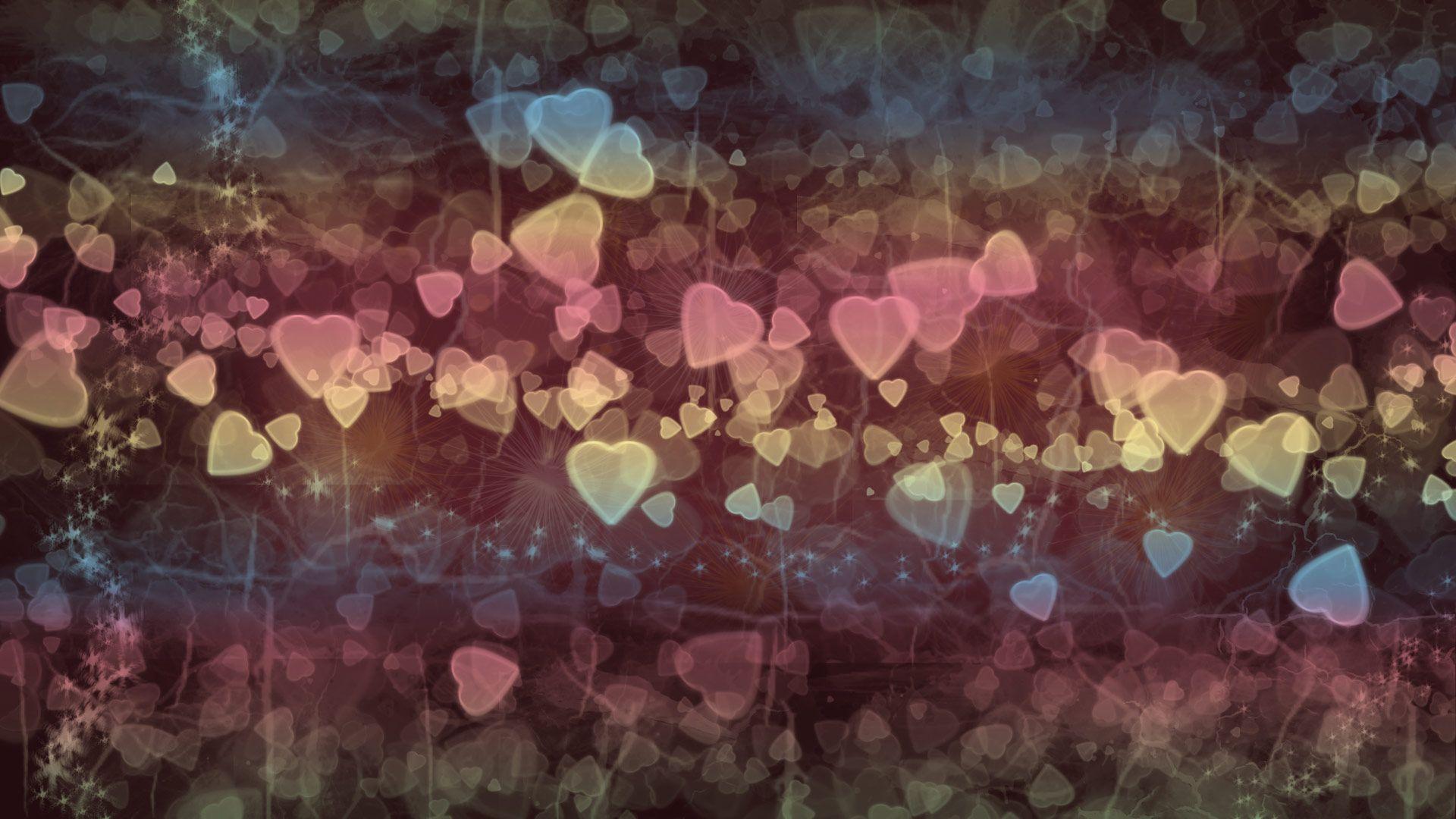 Bokeh Texture Hearts, Hearts Small