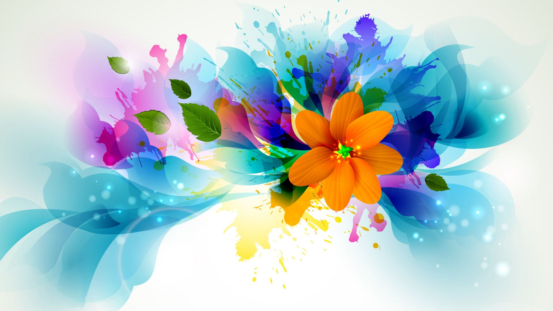 Bright Colors Background Wallpaper Abstract Flowers For Desktop