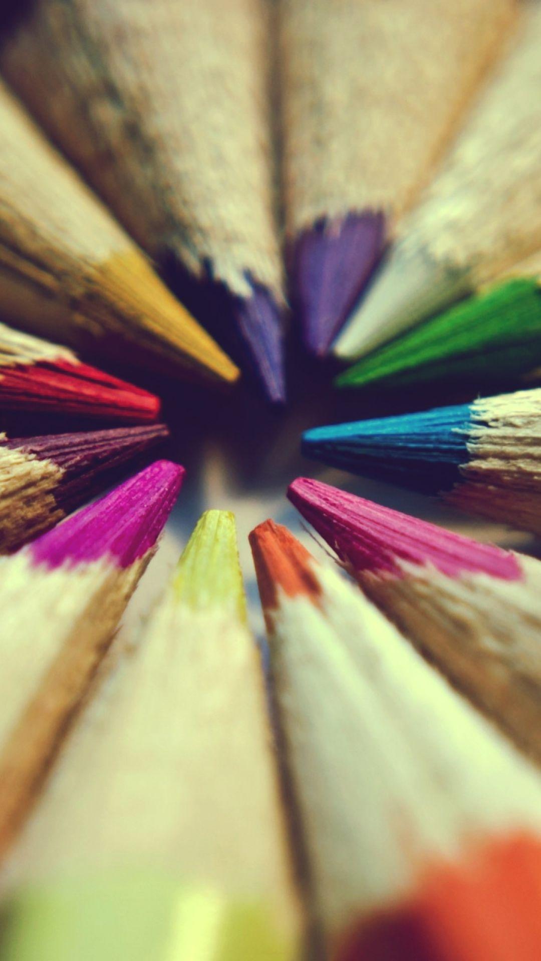 Bright Colors Of Pencils Wallpaper For Nokia Lumia