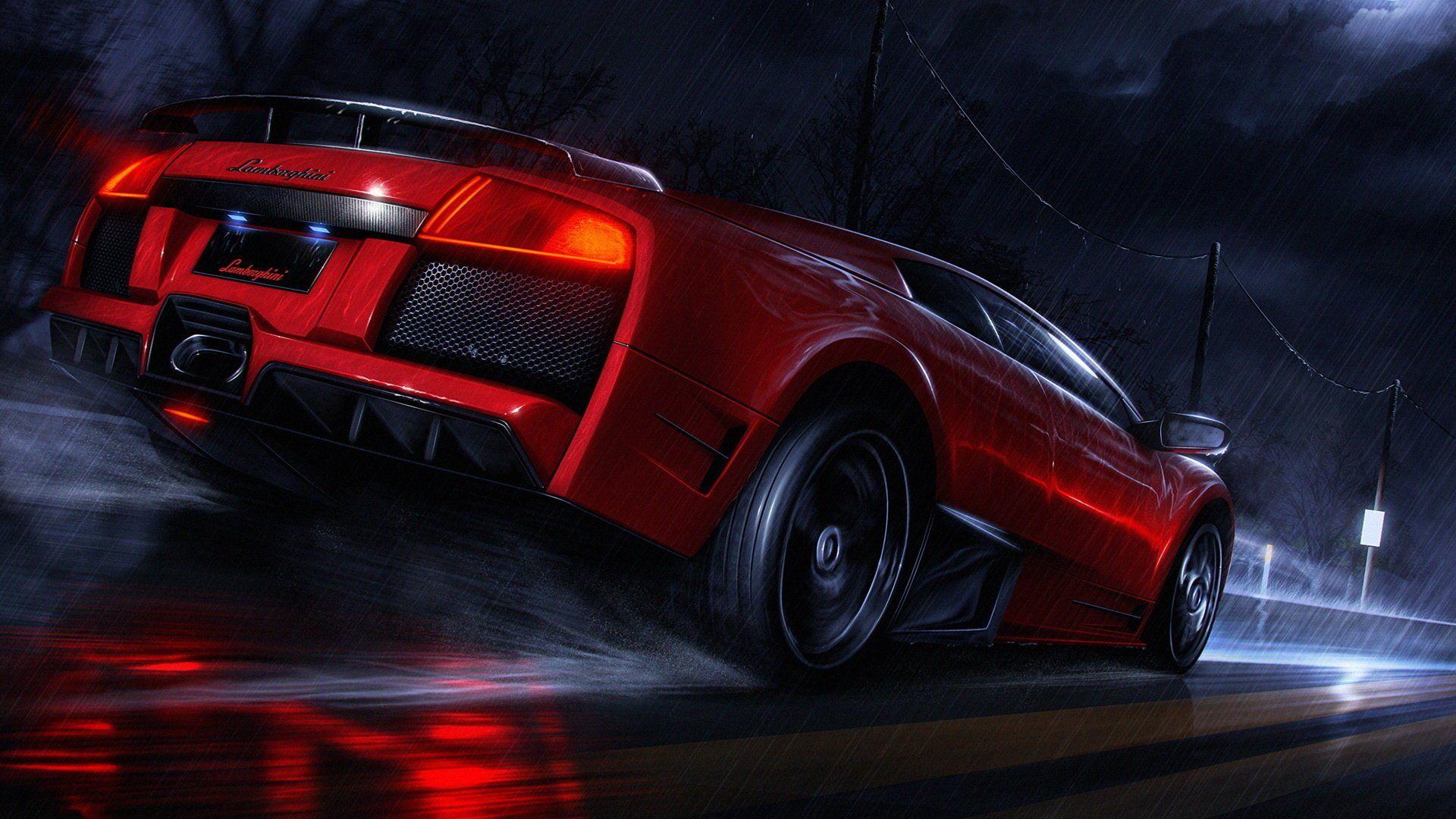 Car Night Art Background For Desktop Road