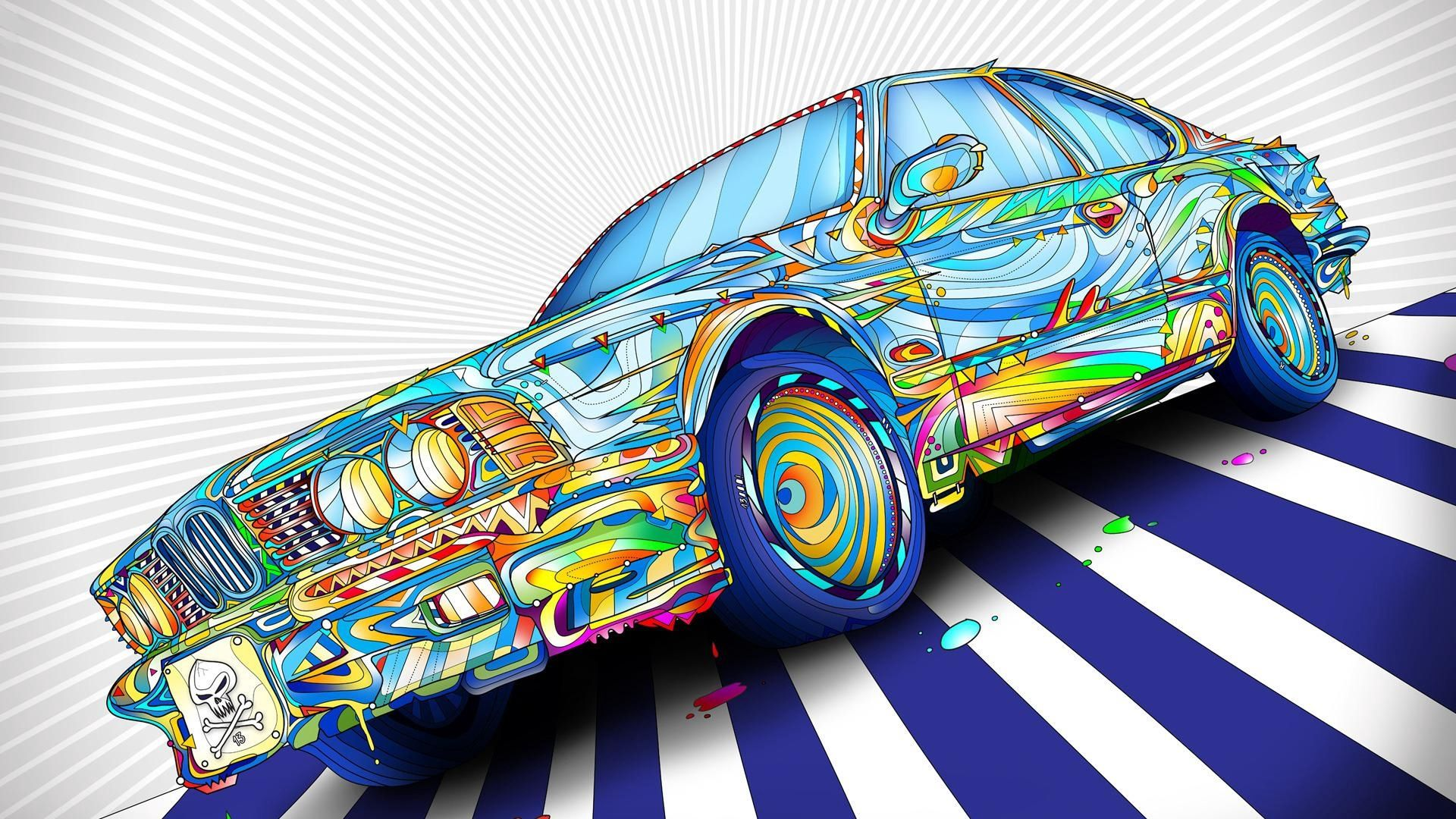 Car Pattern Abstraction, Abstract Drawings For The Machine